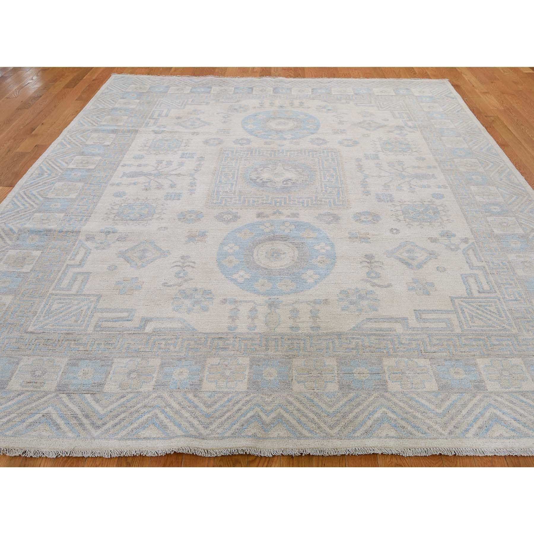 8-1 x9-9  Khotan Pure Wool Washed Out Hand-Knotted Oriental Rug