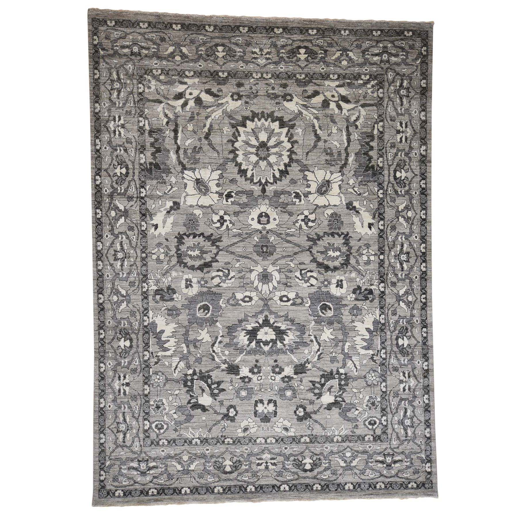 "9'X11'7"" Heriz Pure Wool With Natural Colors Hand-Knotted Oriental Rug moada868"