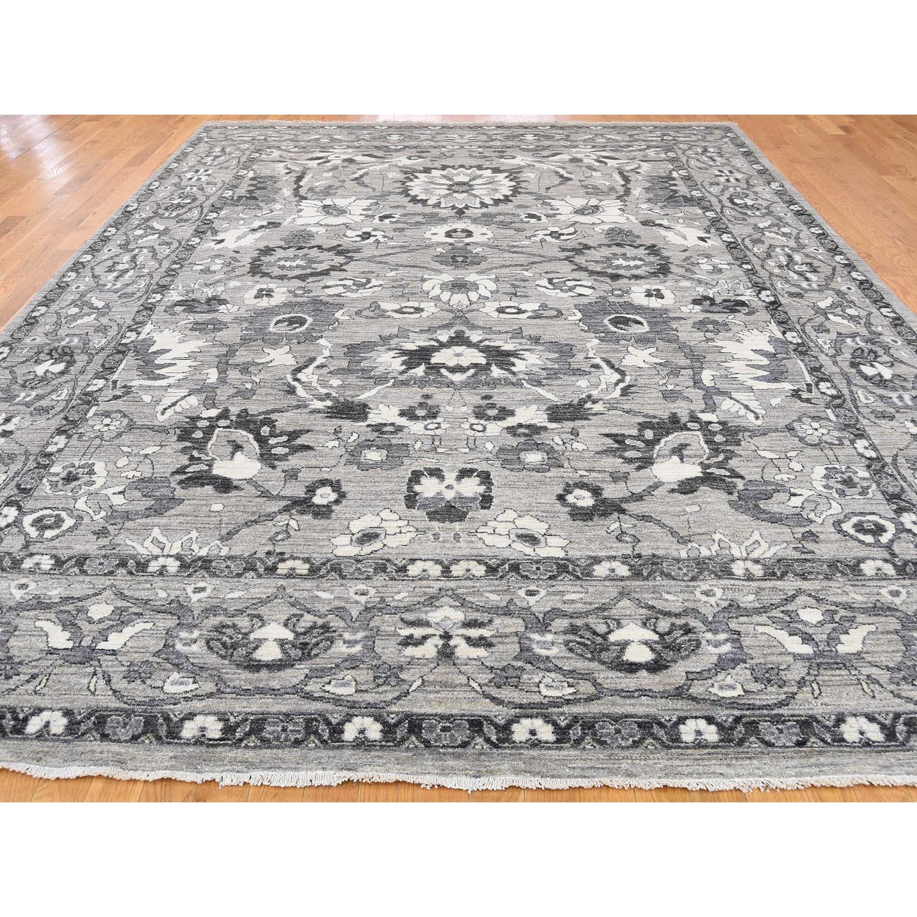 "9'x11'7"" Heriz Pure Wool with Natural Colors Hand-Knotted Oriental Rug"