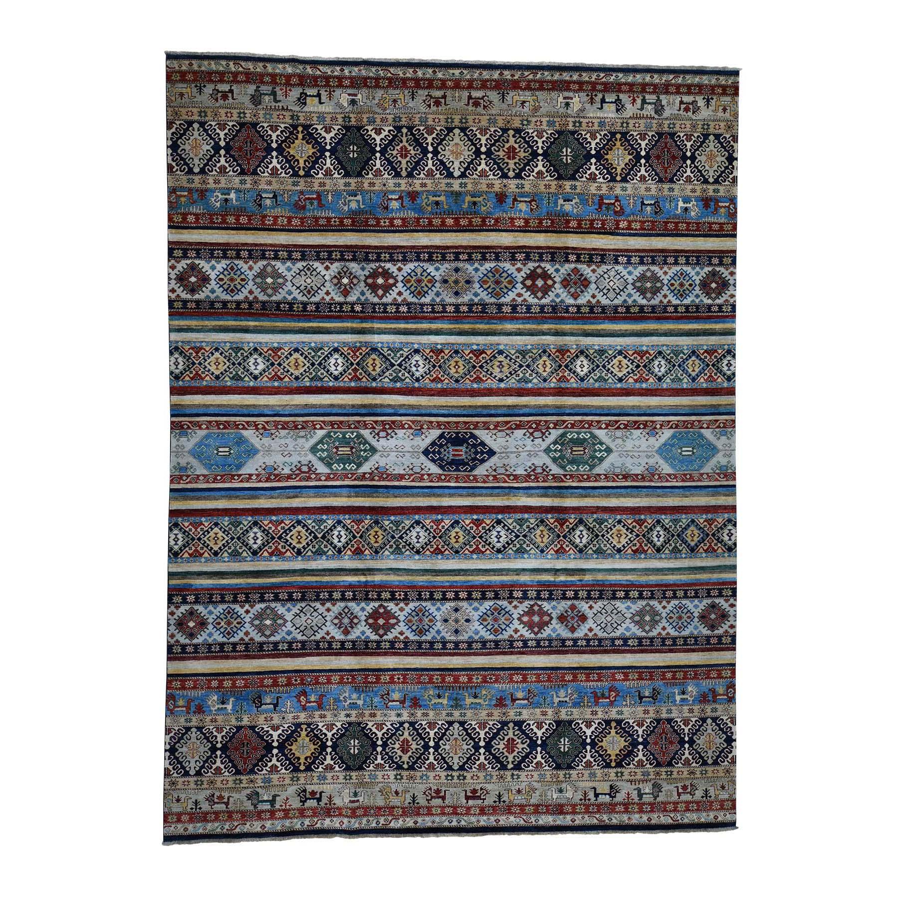 "10'1""X13'6"" Khorjin Design Super Kazak Hand-Knotted Pure Wool Oriental Rug moada889"