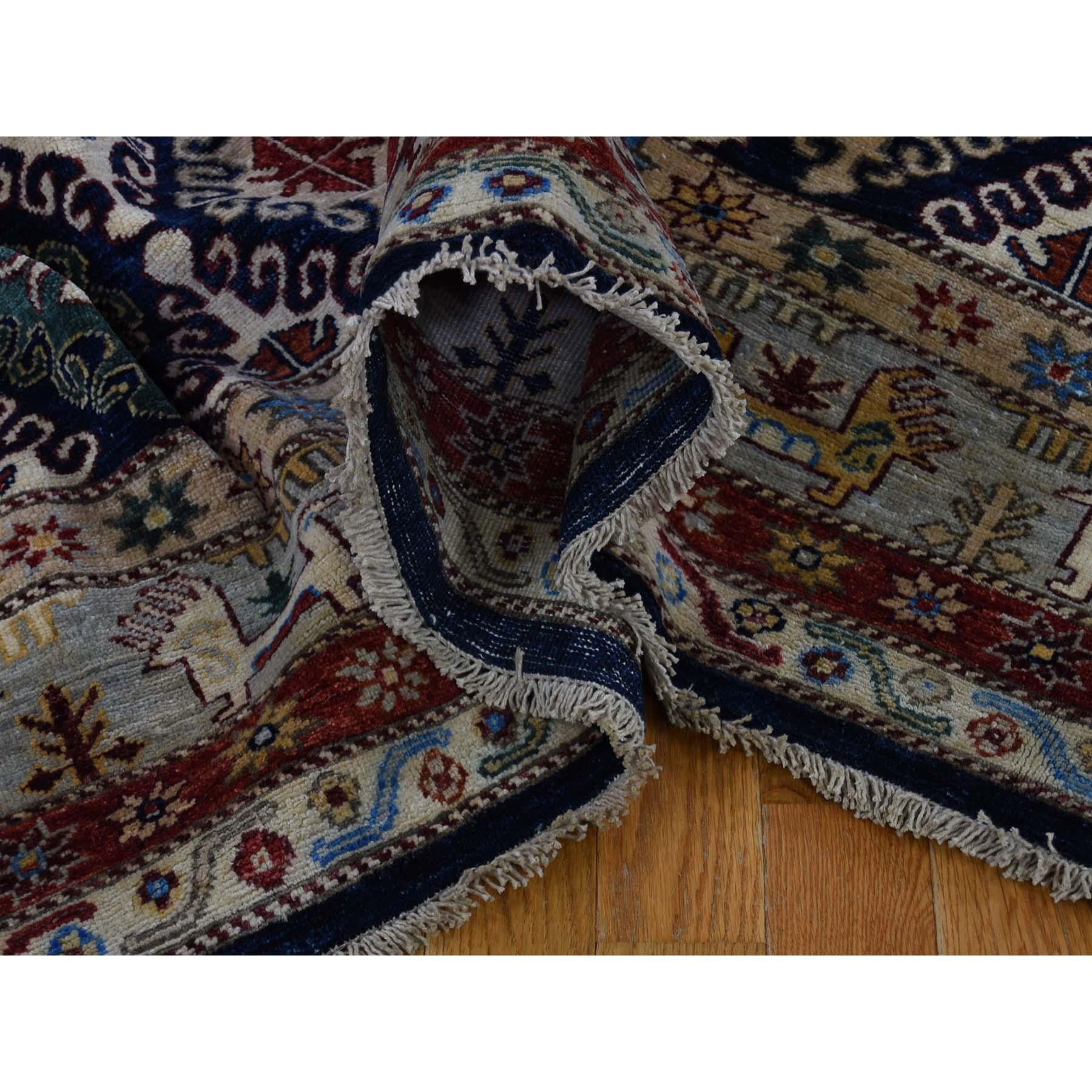 10-1 x13-6  Khorjin Design Super Kazak Hand-Knotted Pure Wool Oriental Rug