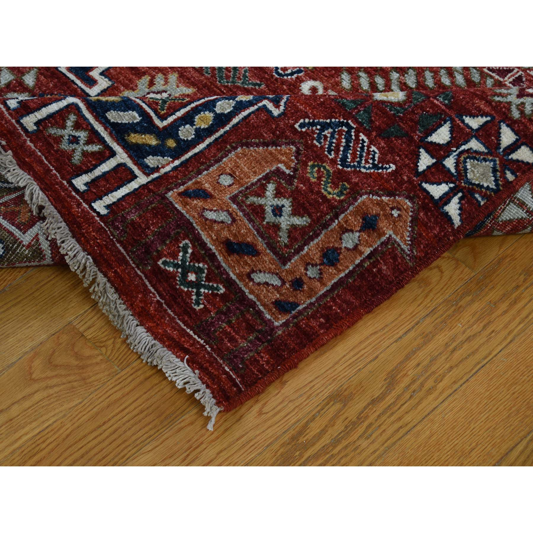 10-2 x13-8  Akstafa Design Antiqued Caucasian Hand-Knotted Pure Wool Oriental Rug