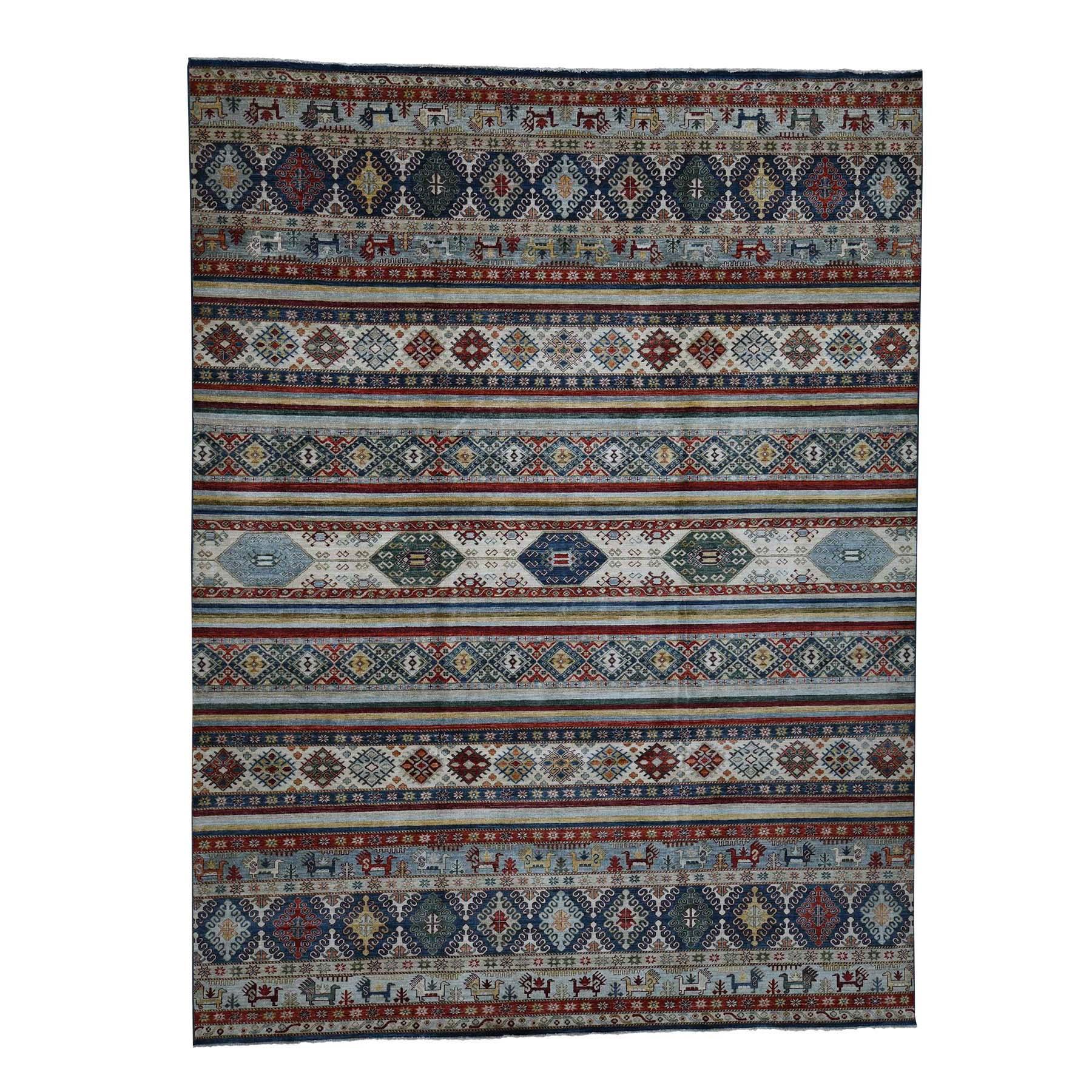 "10'3""X13'7"" Khorjin Design Super Kazak Hand-Knotted Pure Wool Oriental Rug moada9b8"