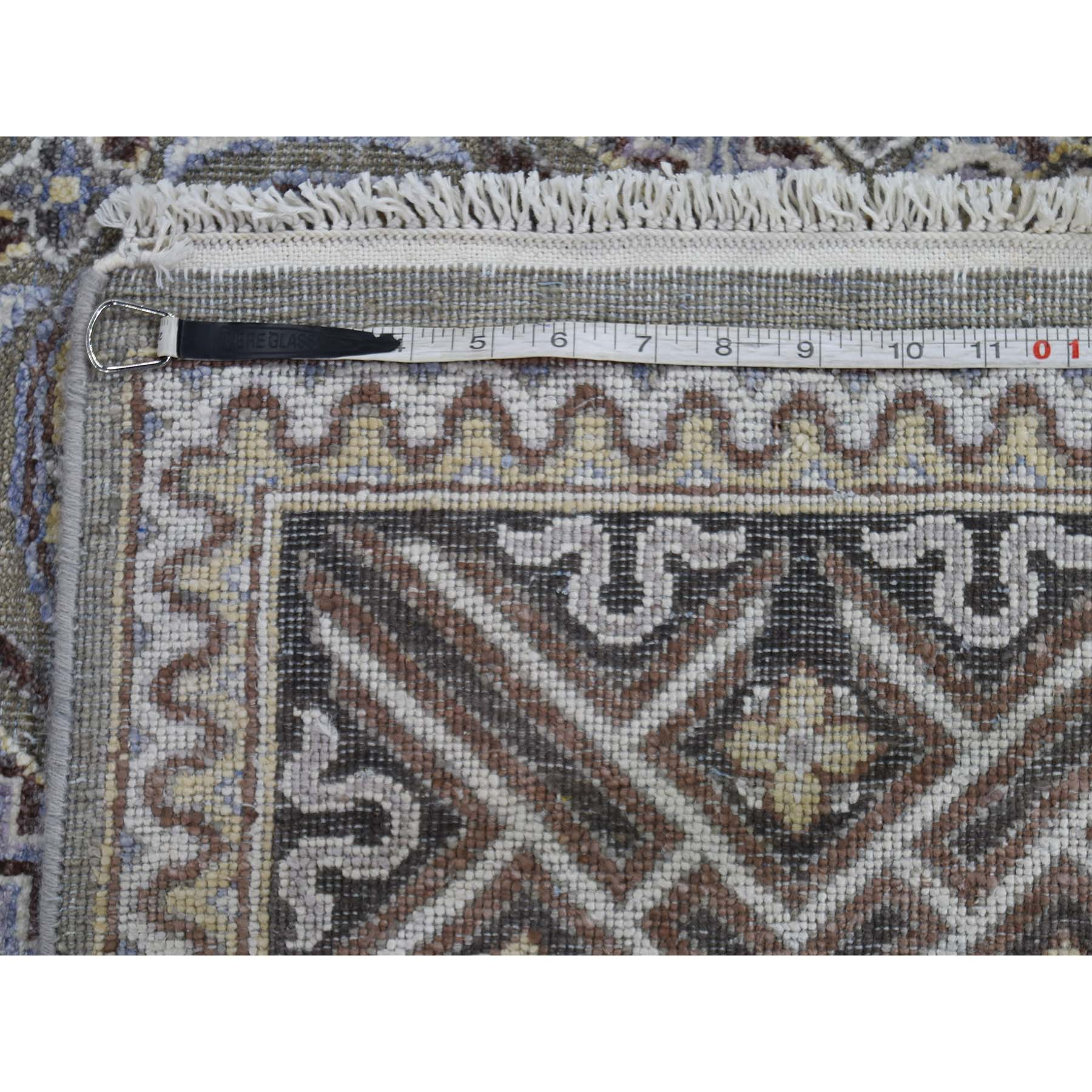 12-x18-6  Mughal Inspired Medallions Oxidized Wool and Silk Oversize Hand-Knotted Oriental Rug