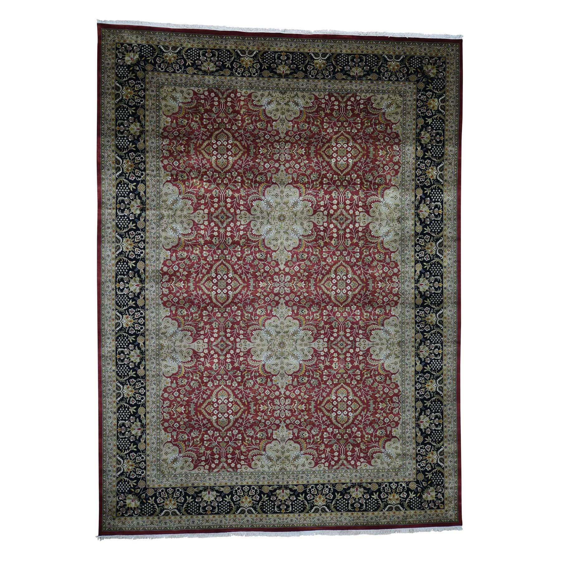 "10'1""X13'8"" New Zealand Wool 300 Kpsi Kashan Revival Hand-Knotted Rug moadba79"