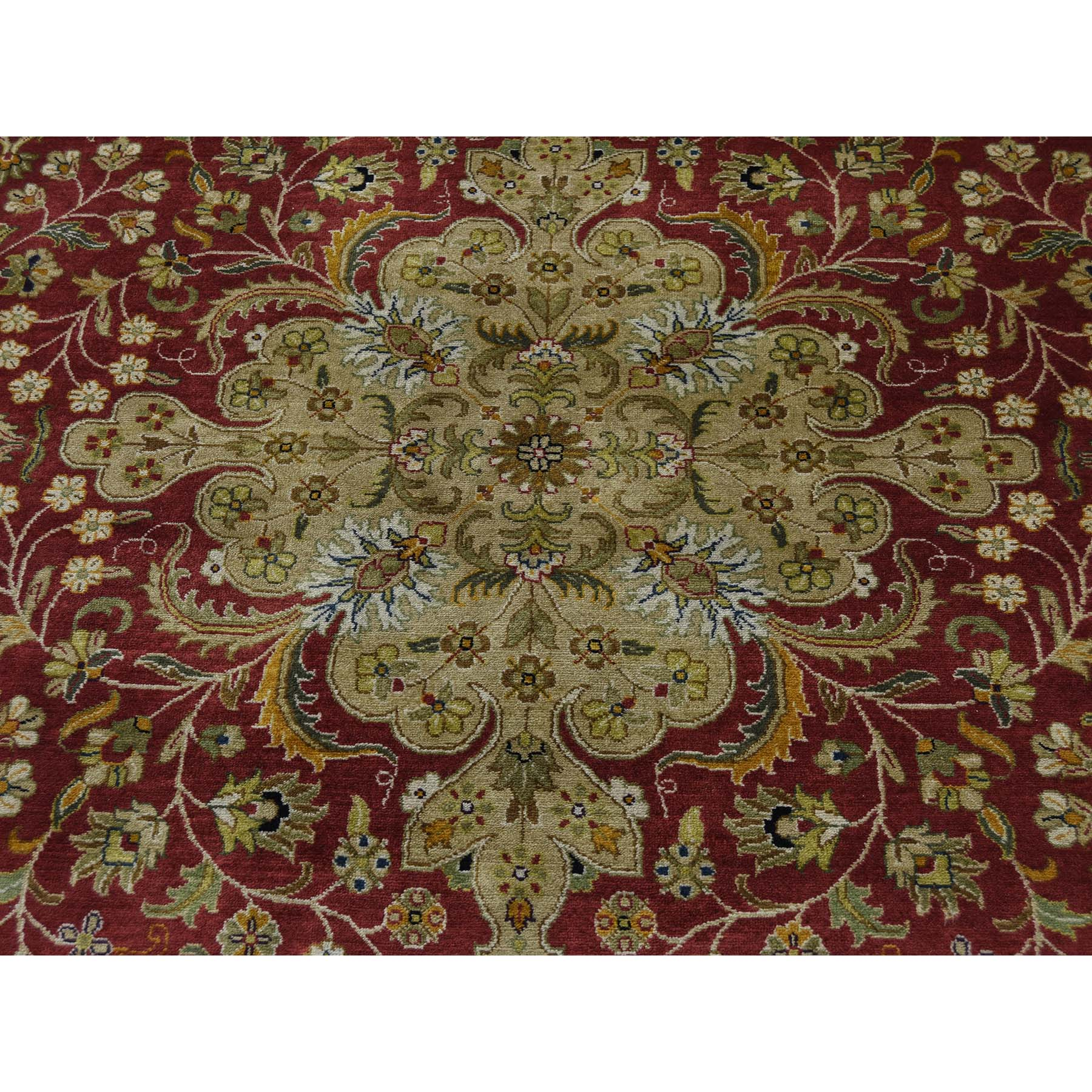 10-1 x13-8  New Zealand Wool 300 Kpsi Kashan Revival Hand-Knotted Rug