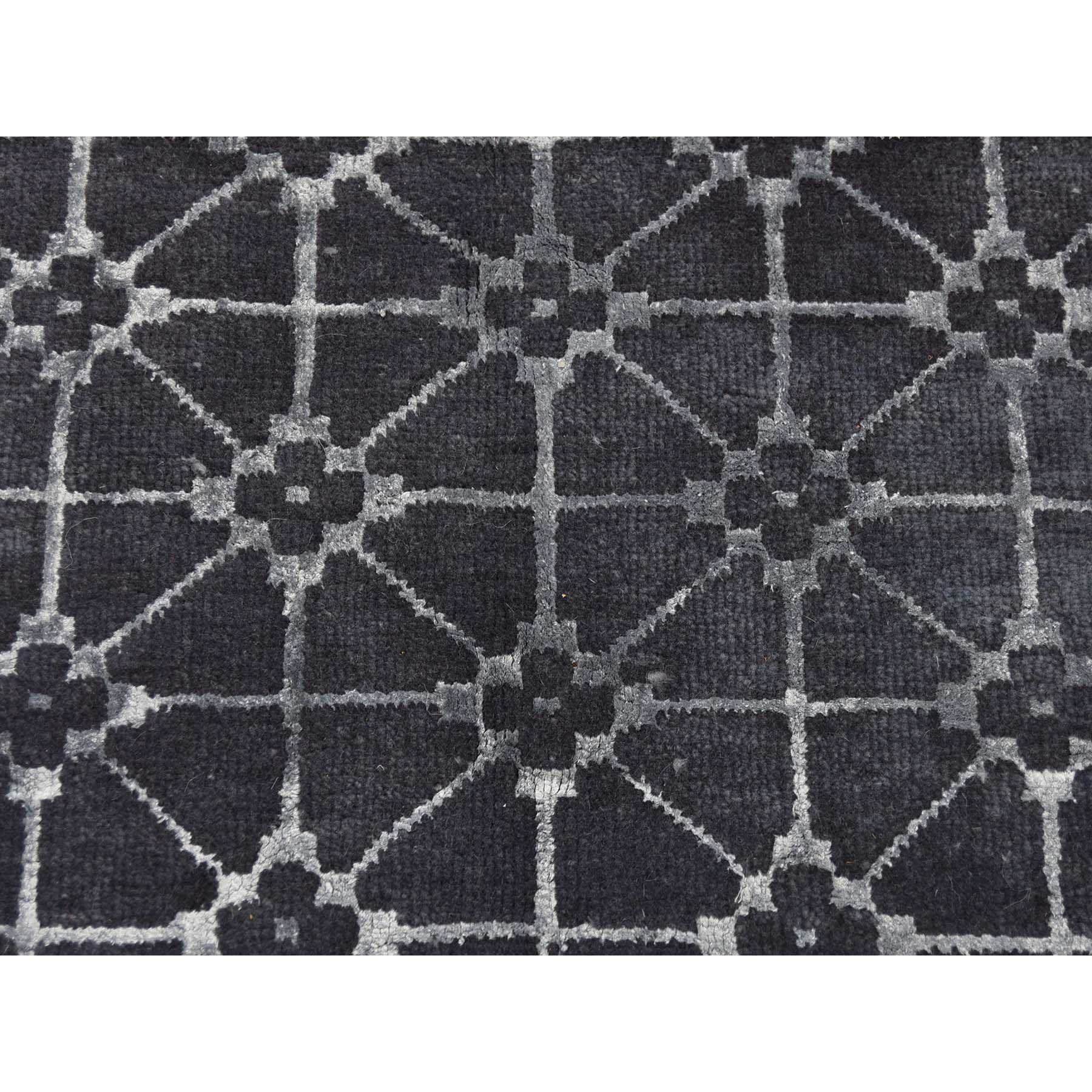 6-2 x8-10  Pure Wool Overdyed Trellis Design Hand-Knotted Oriental Rug