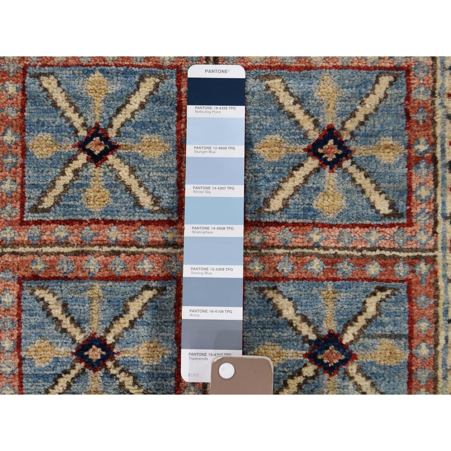6-2 x8-9  Antiqued Pazyryk Historical Design Hand-Knotted Peshawar Oriental Rug