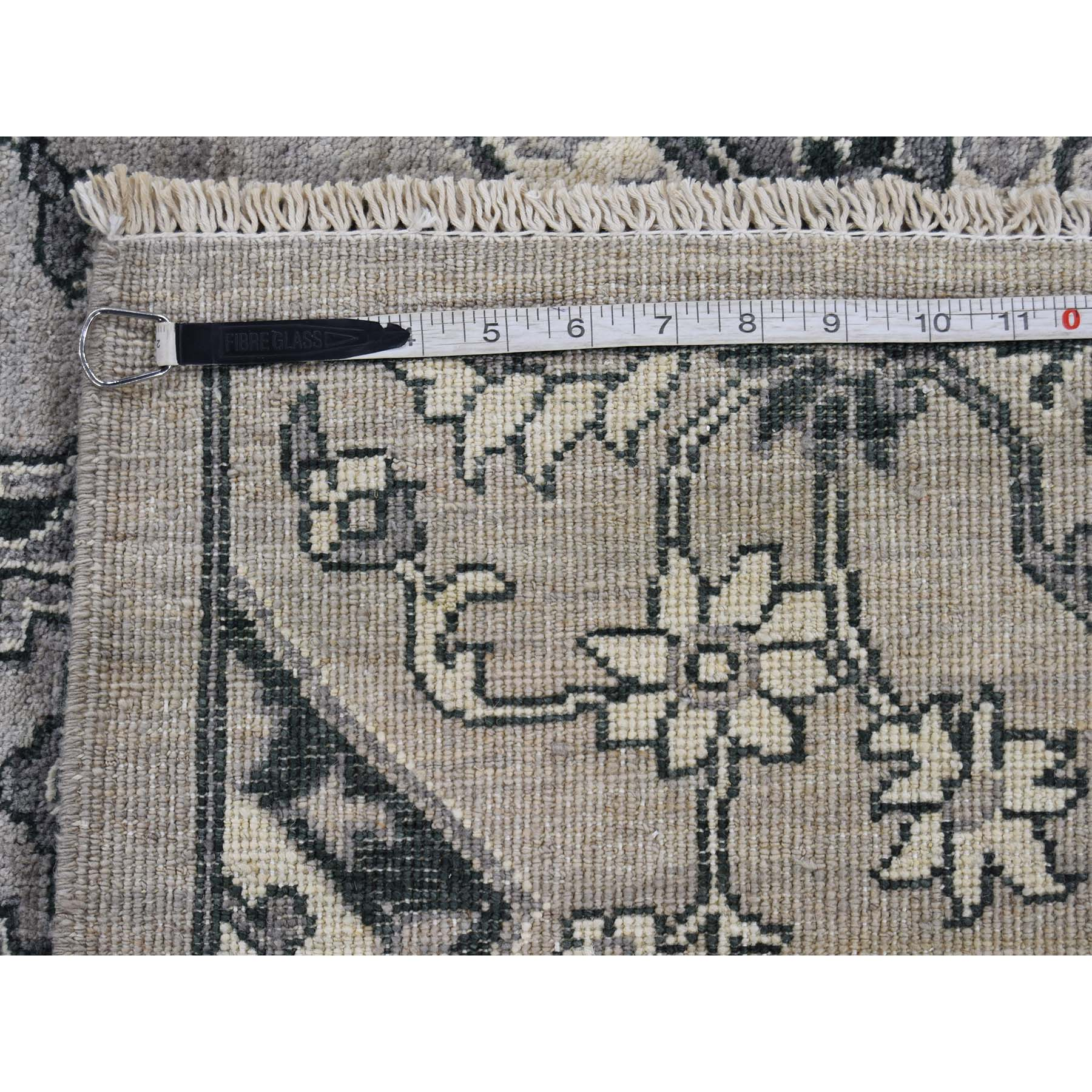 8-4 x10-6  Oushak Influence Design Silver & Grey Pure Wool Hand-Knotted Oriental Rug
