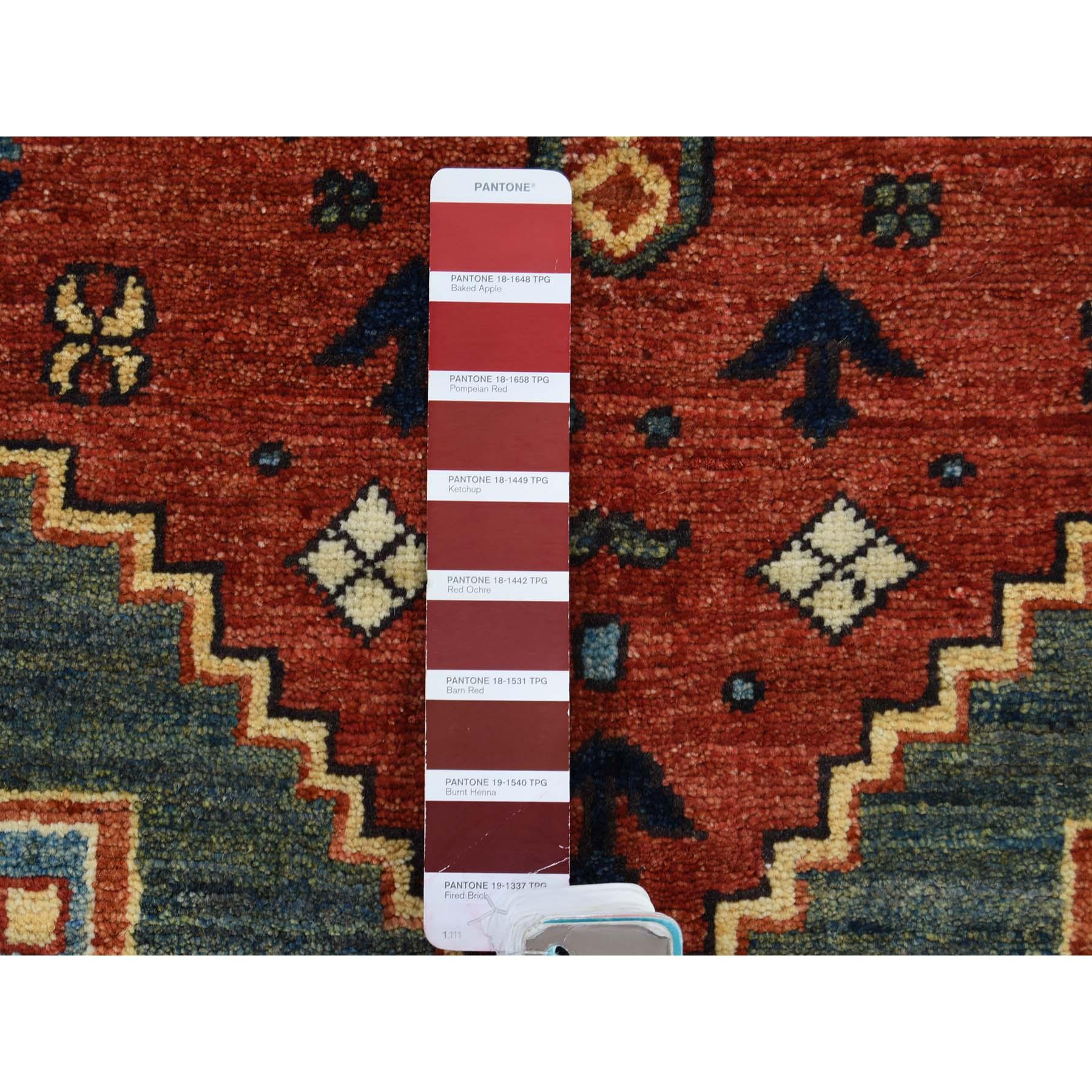 3-5 x5-2  Pure Wool Hand-Knotted Afghan Ersari Oriental Rug