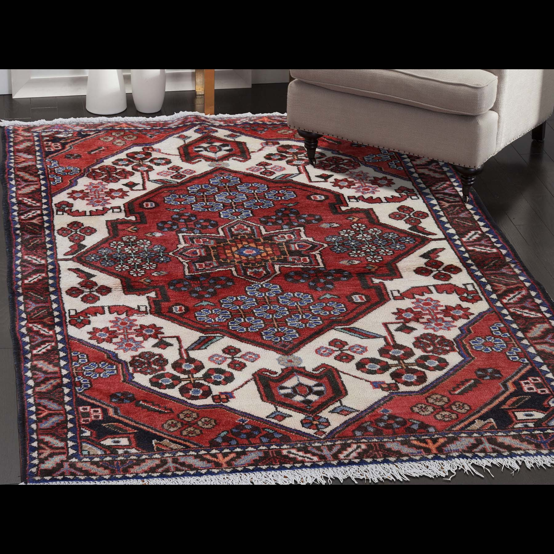 3-8 x5- Pure Wool New Persian Mazlagan Hand-Knotted Oriental Rug