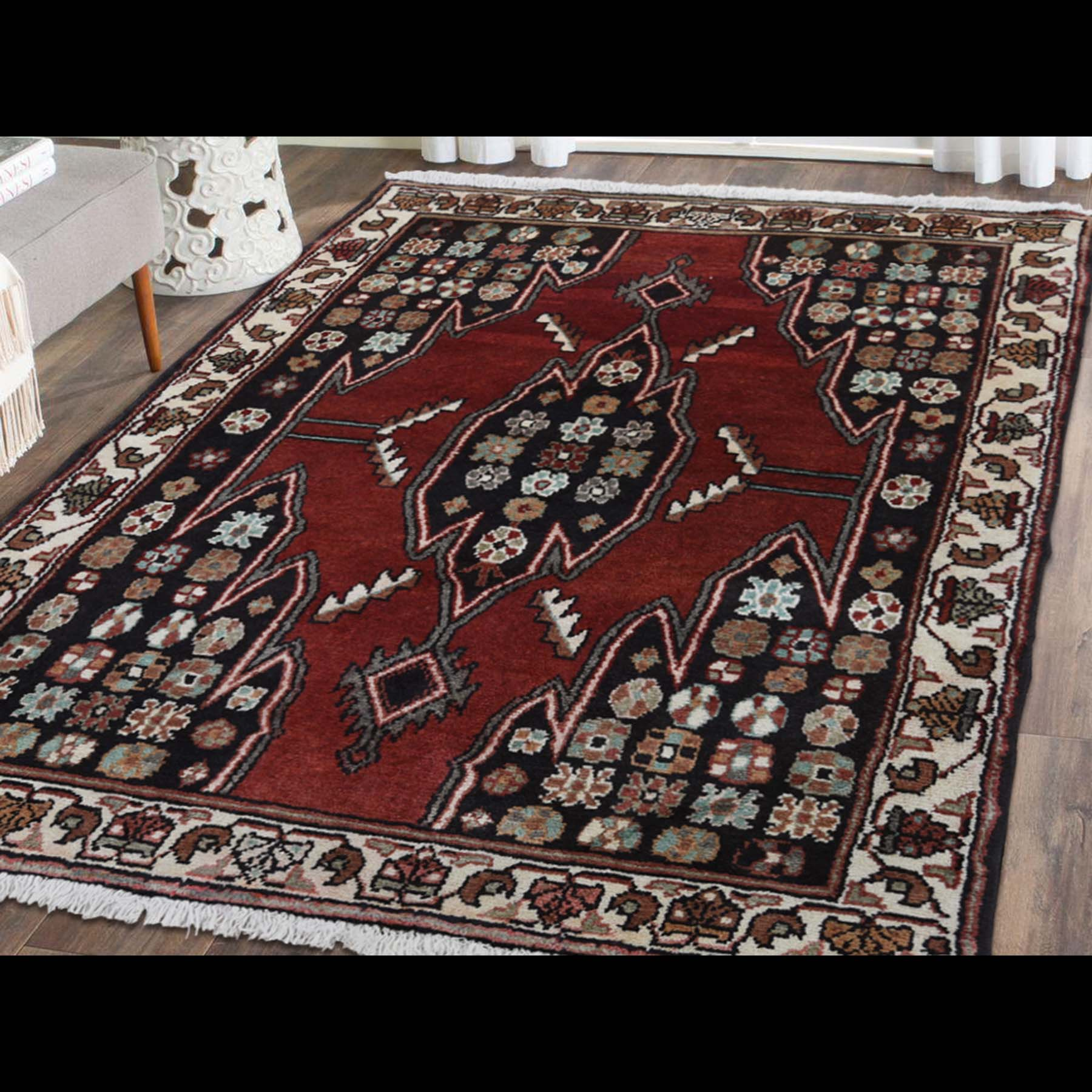 3-6 x4-8  New Persian Mazlagan Hand-Knotted Oriental Pure Wool Rug