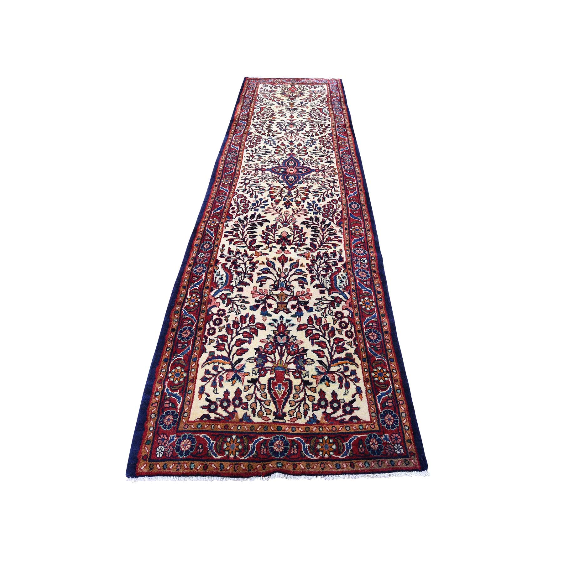"2'8""X11' New Persian Lilahan Runner Hand-Knotted Oriental Oriental Rug moadbe80"
