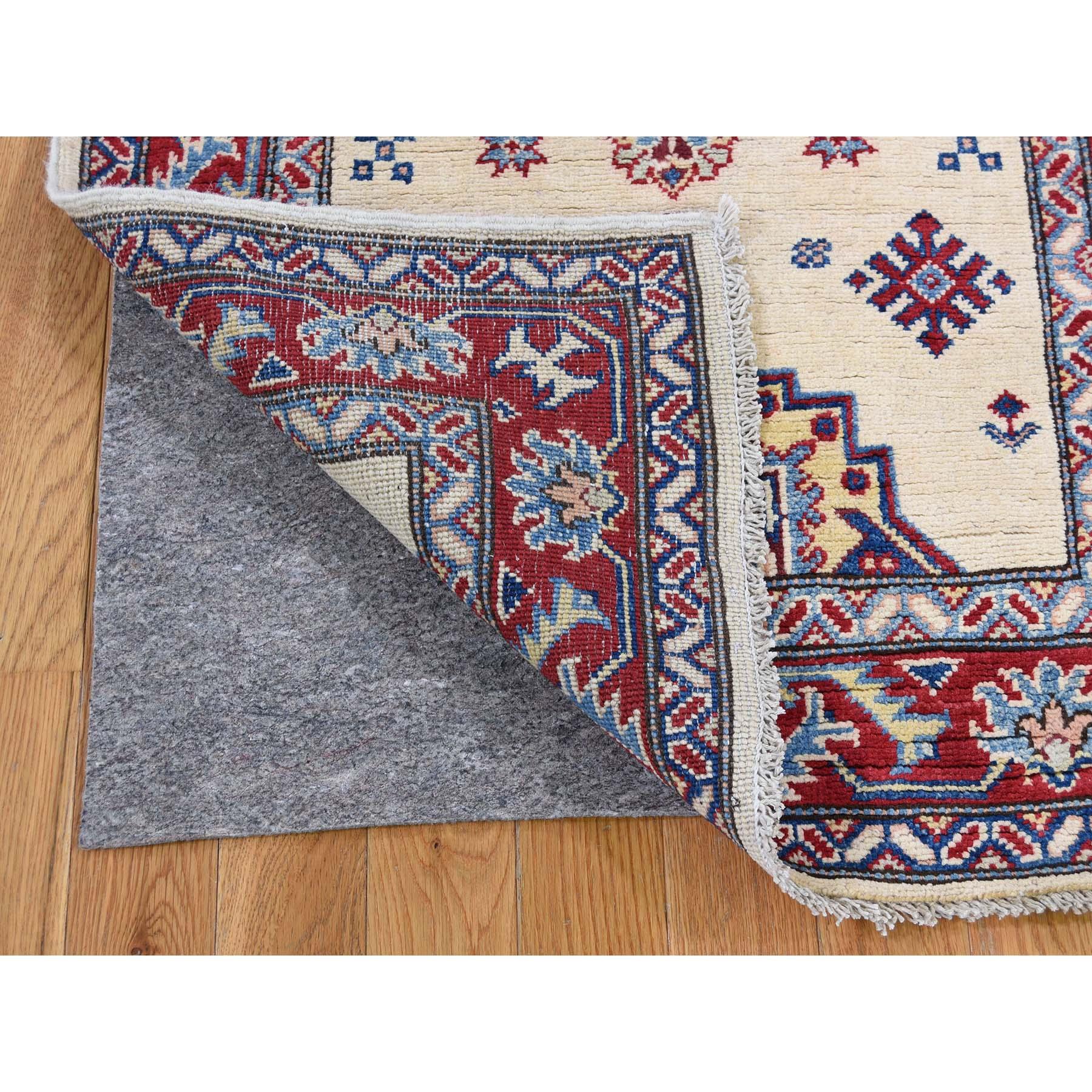 2 9 X9 Special Kazak Pure Wool Runner Hand Knotted Geometric Design Oriental Rug