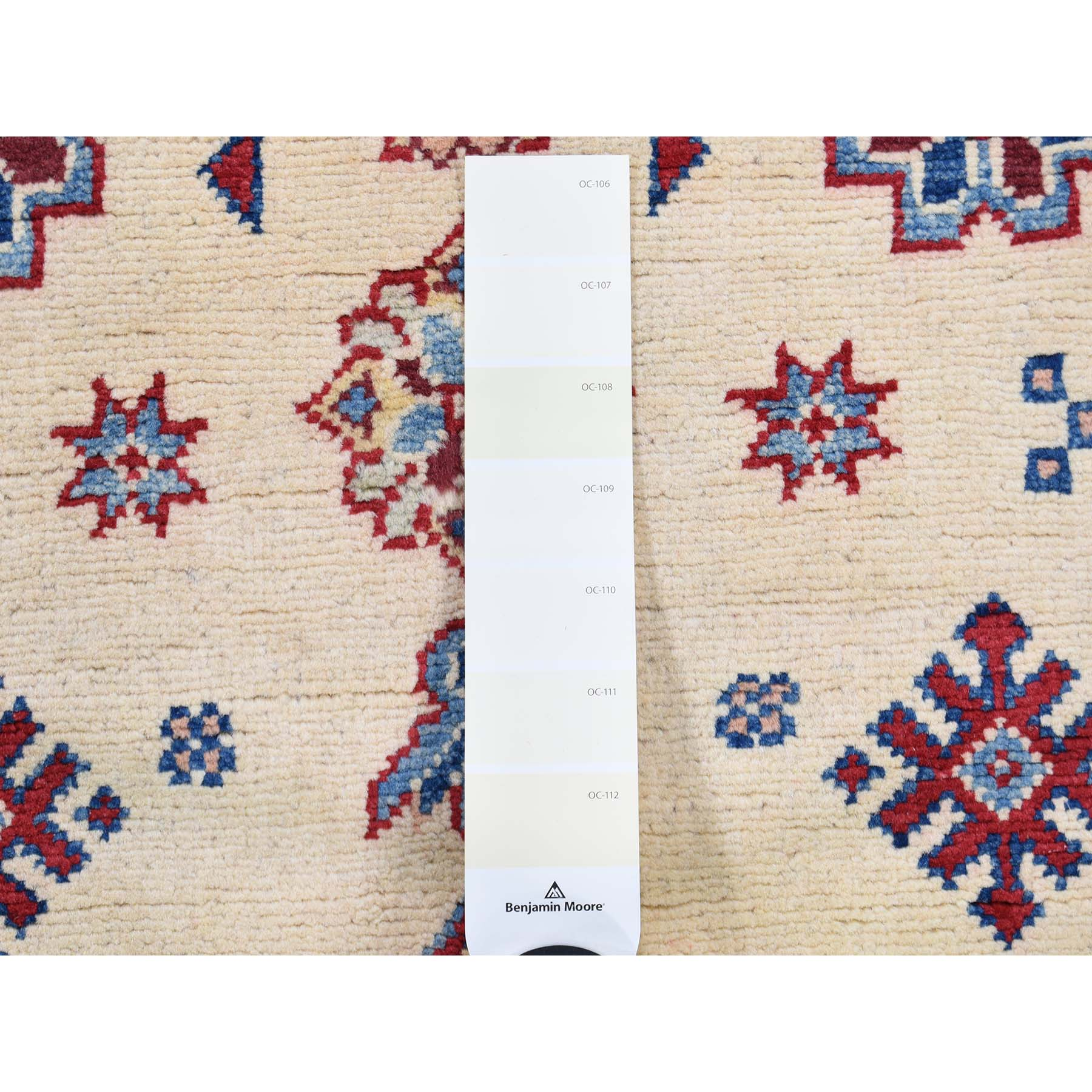 2-9 x9-9  Special Kazak Pure Wool Runner Hand-Knotted Geometric Design Oriental Rug