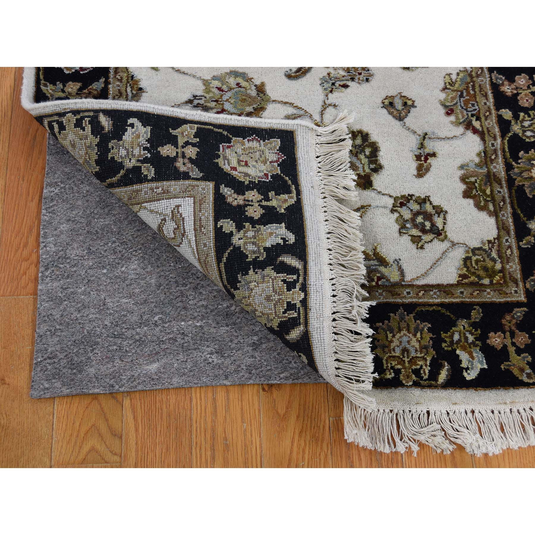 2-7 x16- Rajasthan Half Wool and Half Silk XL Runner Hand-Knotted Oriental Rug
