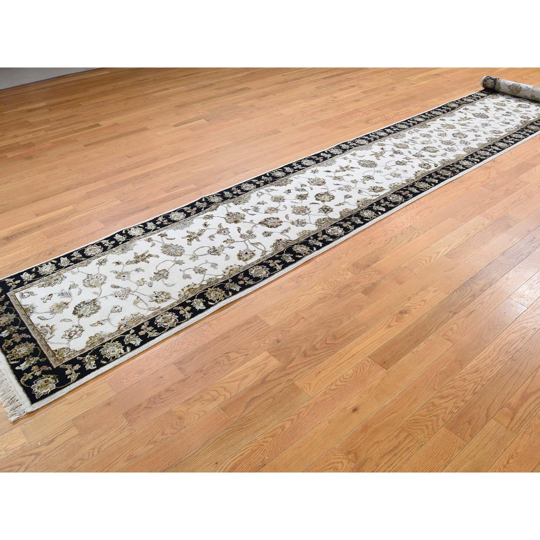 2-7 x15-10  Rajasthan Half Wool and Half Silk XL Runner Hand-Knotted Oriental Rug