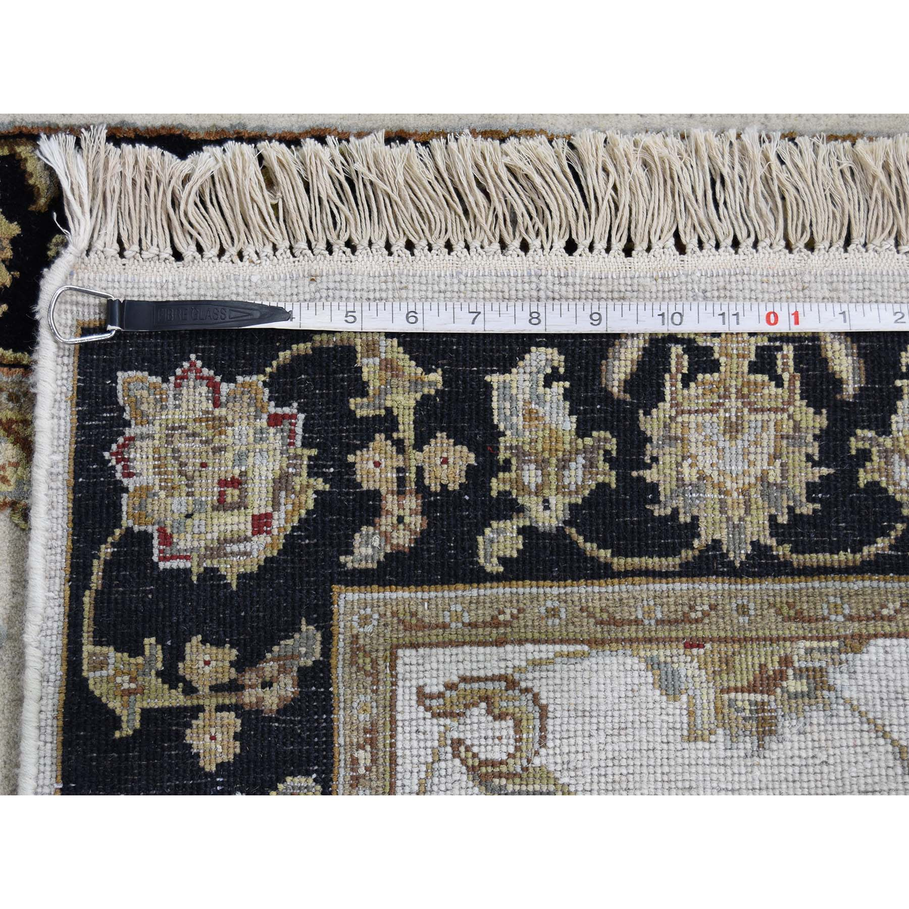 2-7 x15-10  Rajasthan Half Wool and Half Silk XL Runner Hand-Knotted Oriental Rug