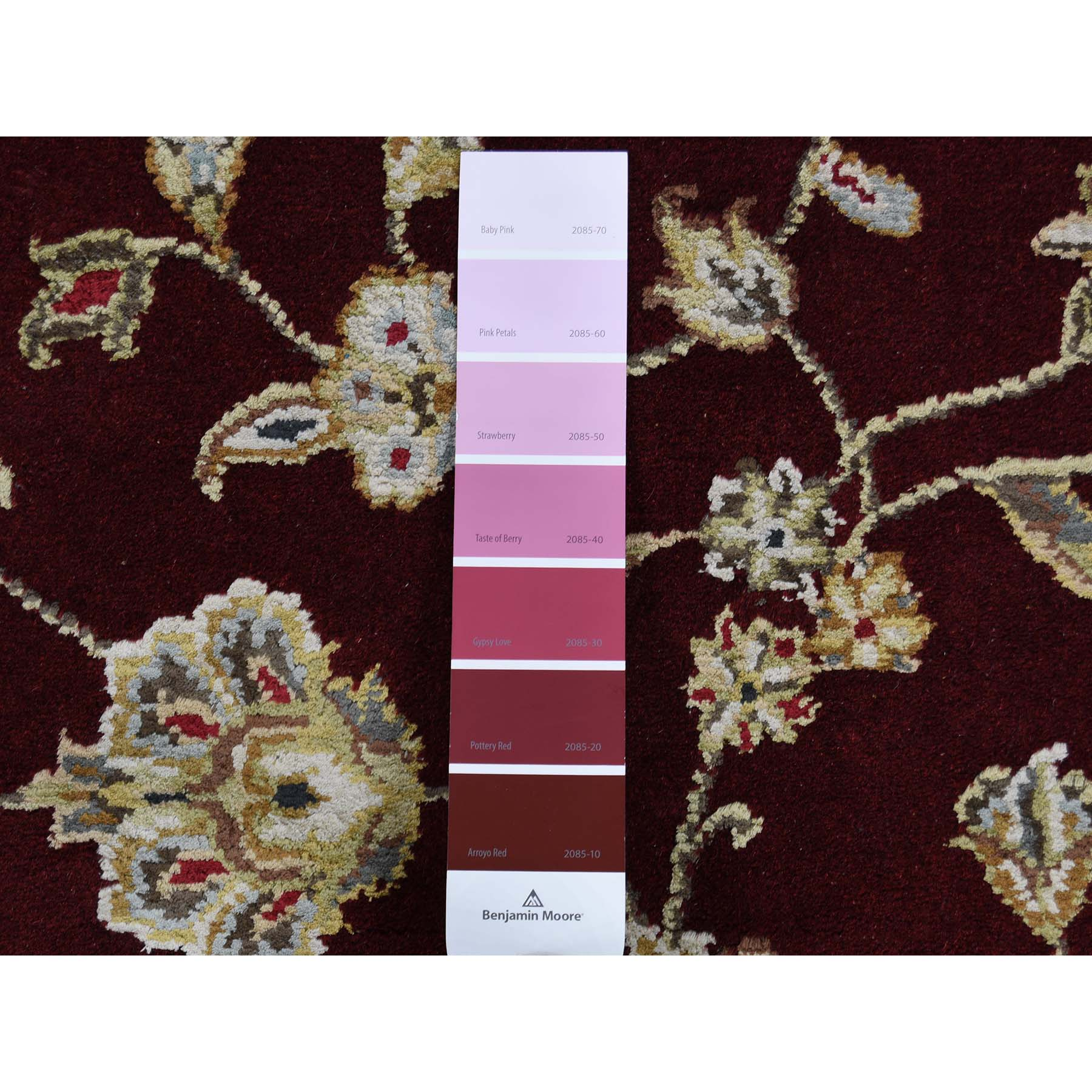 2-7 x14- Rajasthan Half Wool Half and Silk Hand-Knotted Runner Oriental Rug