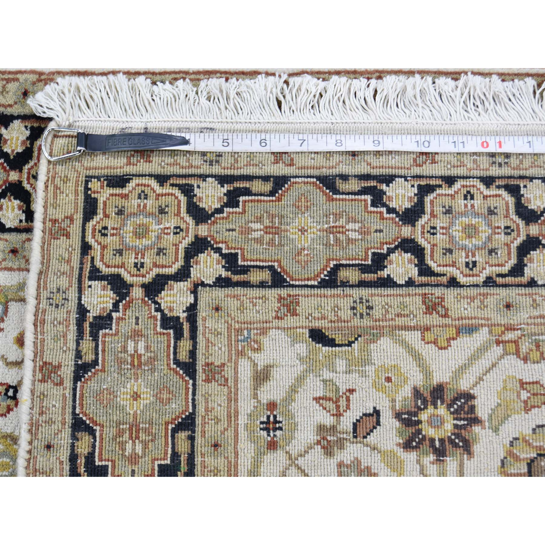 2-8 x6-2  New Zealand Wool 300 Kpsi Hand-Knotted Tabriz Oriental Rug