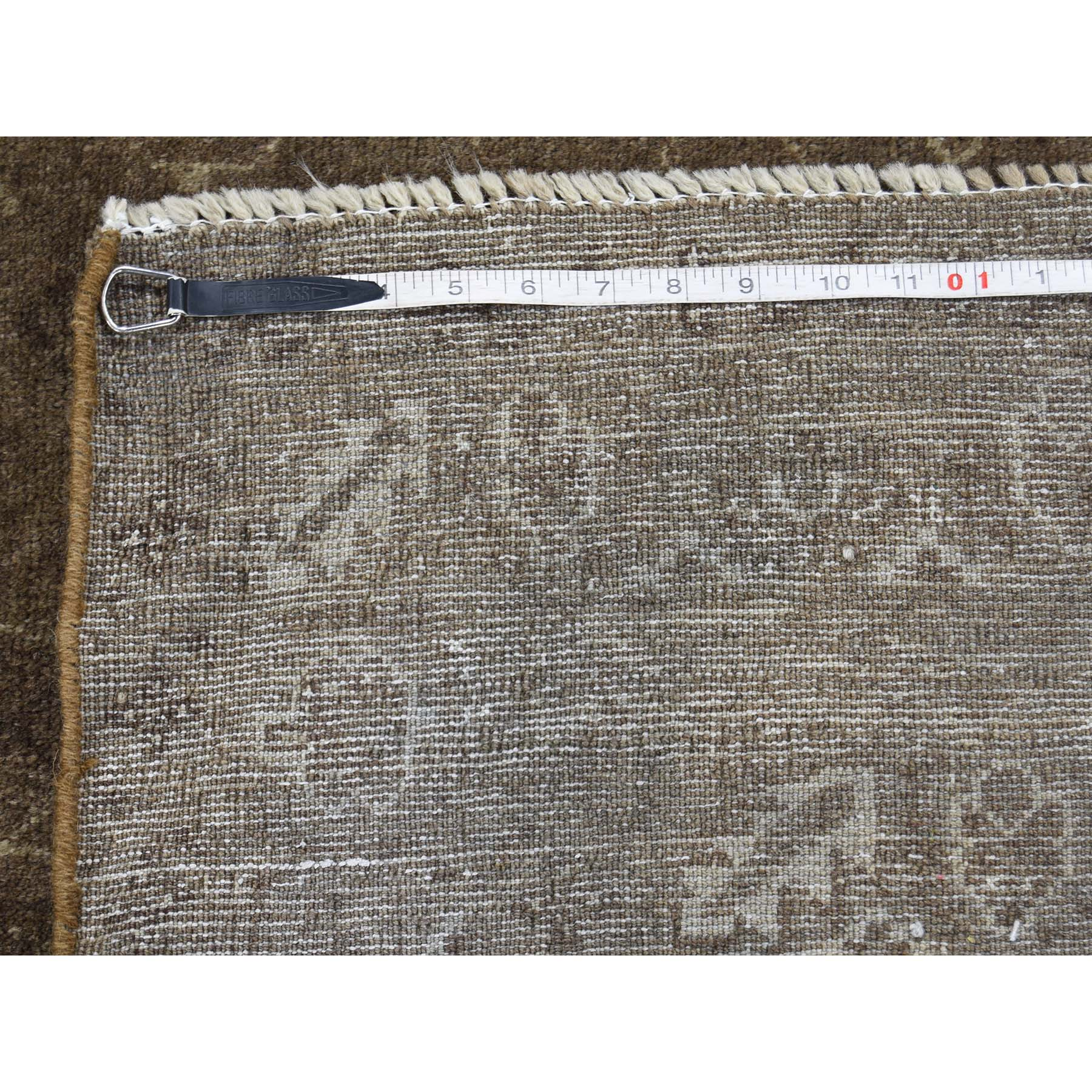 4-x7- Pure Wool Vintage Afghan Baluch Silver Wash Hand-Knotted Rug