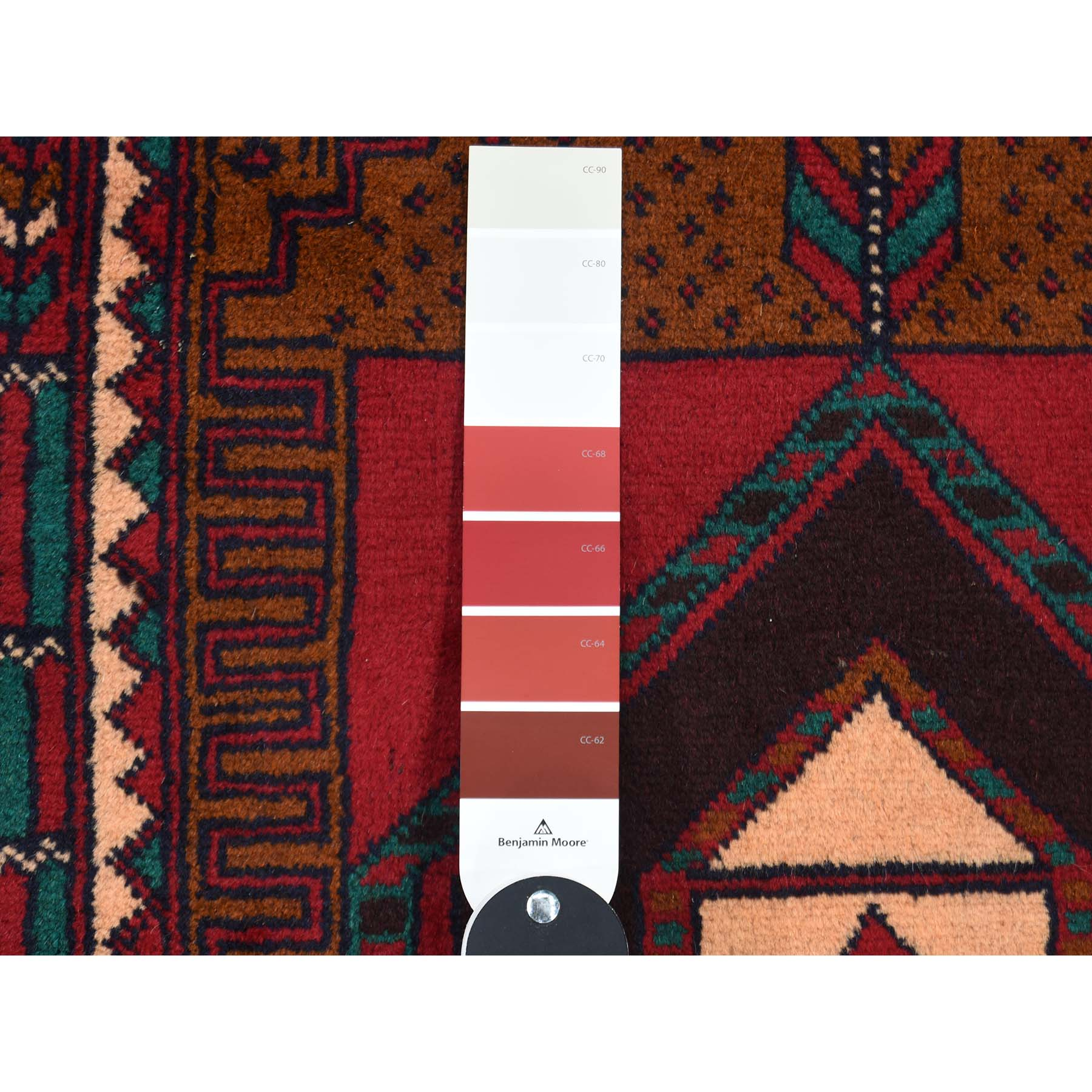 3-x4-6  Pure Wool Hand-Knotted Vintage Afghan Baluch Oriental Rug