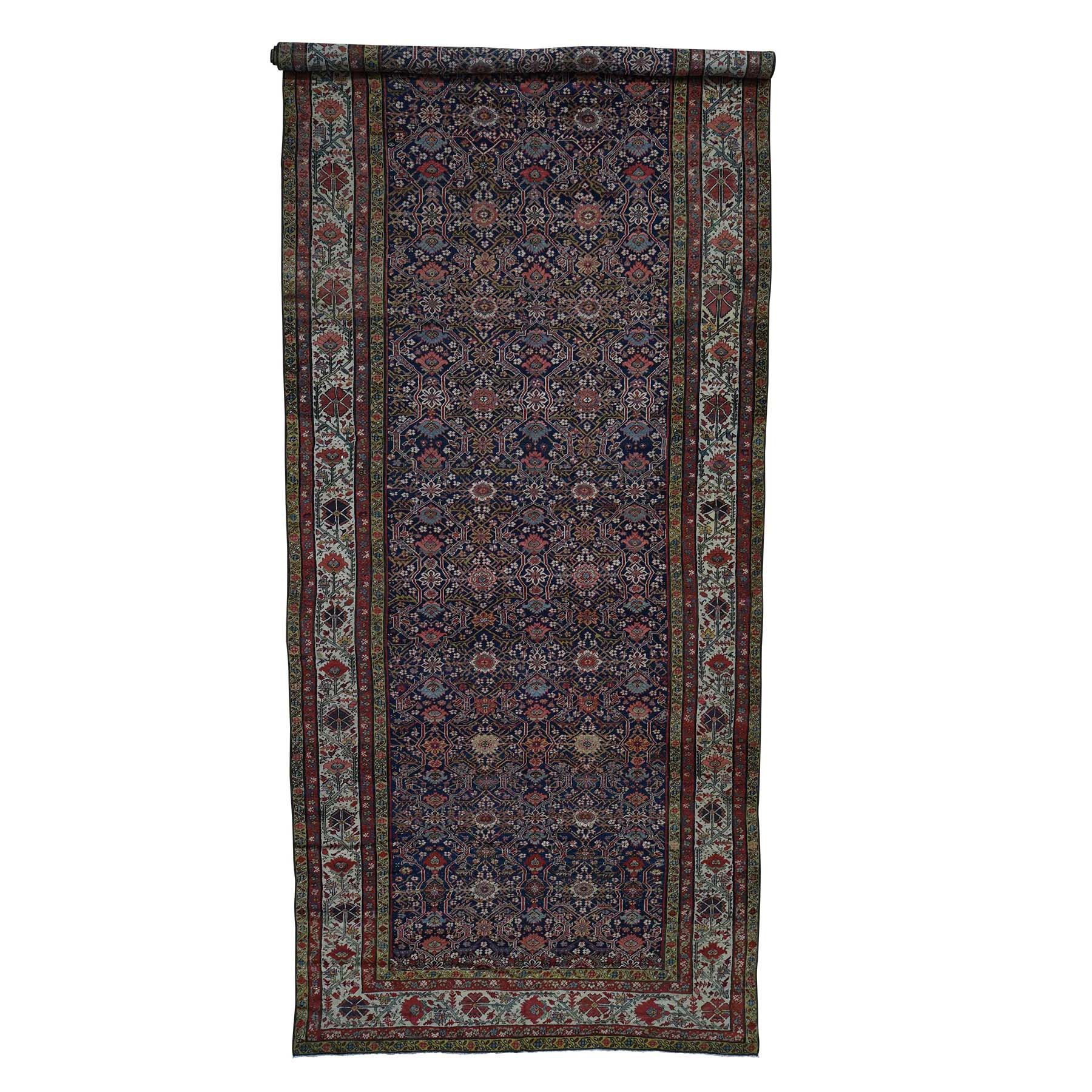 "6'5""X16'4"" Hand-Knotted Antique Persian Fereghan Sarouk Gallery Size Oriental Rug moadb867"