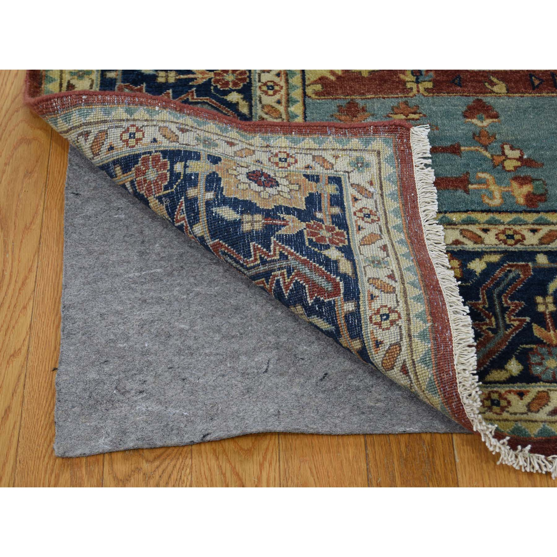 10-1 x13-9  Antiqued Heriz Re-creation Pure Wool Hand Knotted Oriental Rug