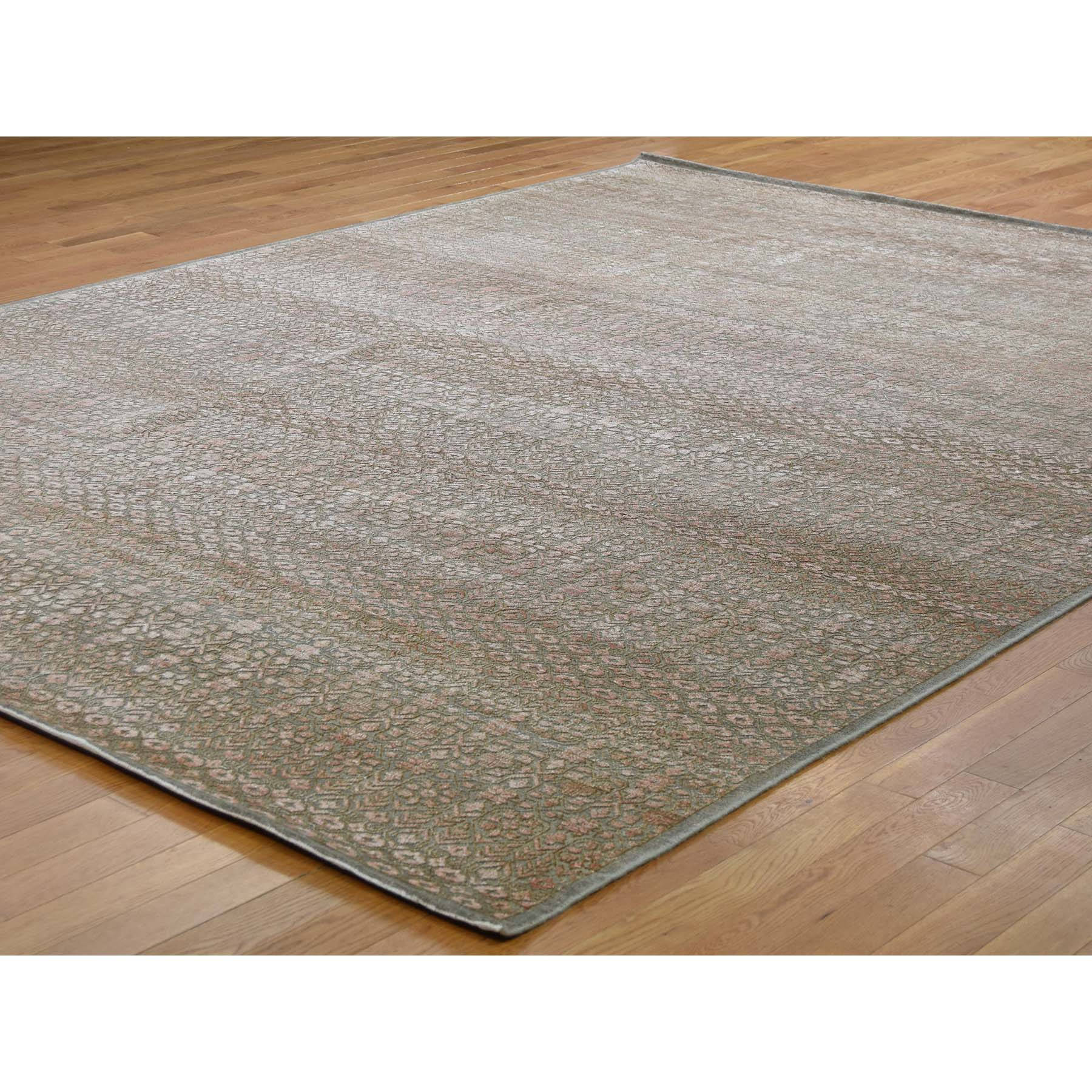 9-x12-2  Art Silk With Oxidized Wool Gabbeh Design Hand-Knotted Oriental Rug