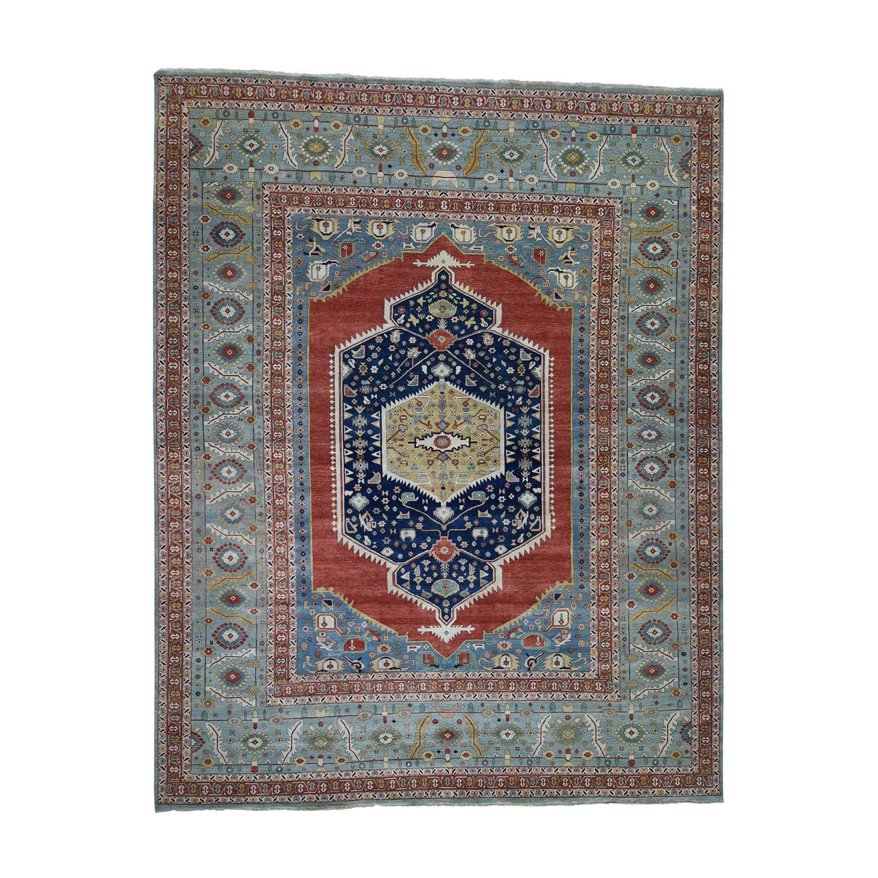 "11'9""X14'10"" Antiqued Bakshaish Re-Creation Pure Wool Oversize Hand-Knotted Oriental Rug moadb97c"