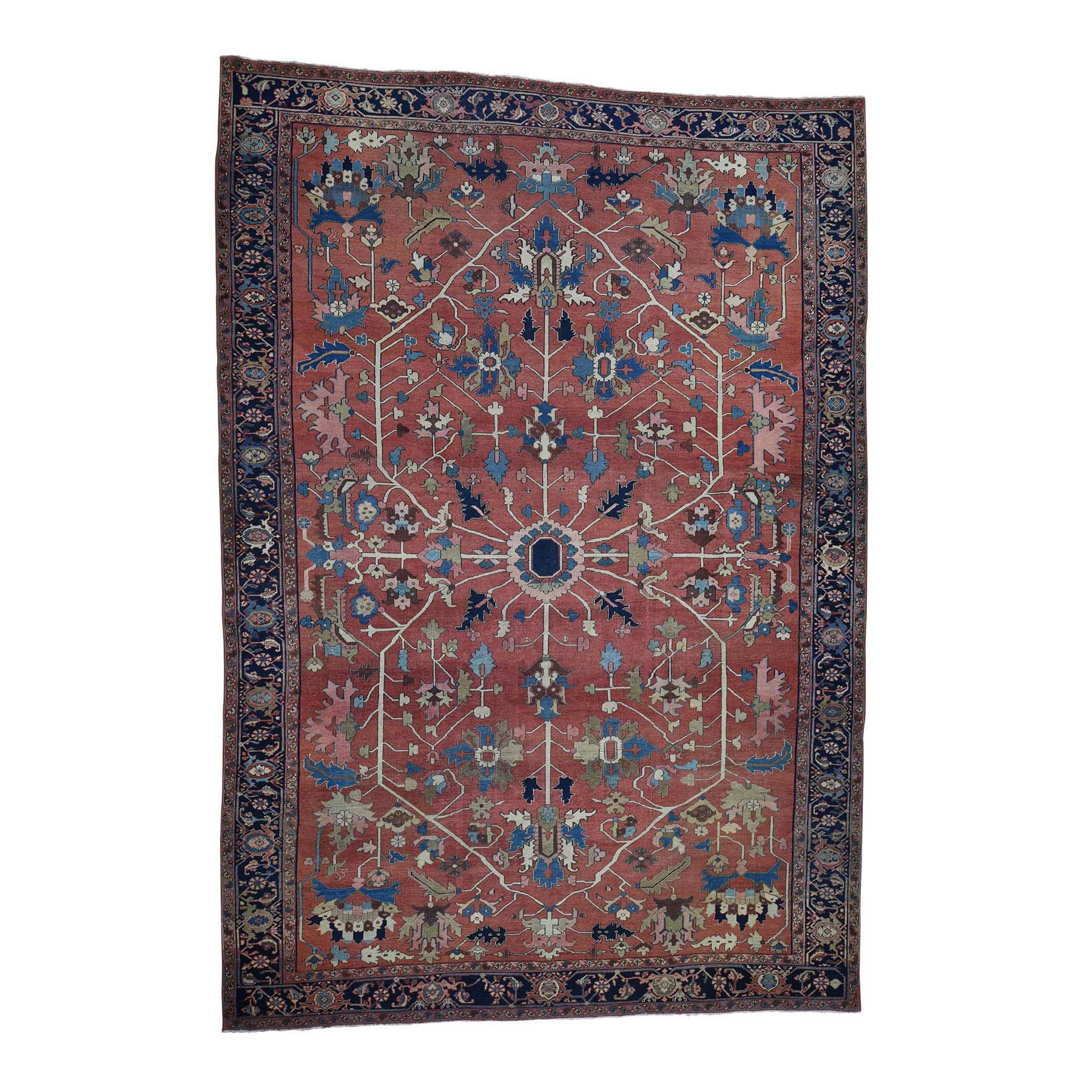 "10'X14'6"" Antique Persian Serapi Exc Cond Pure Wool Hand Knotted Oriental Rug moadc0a7"