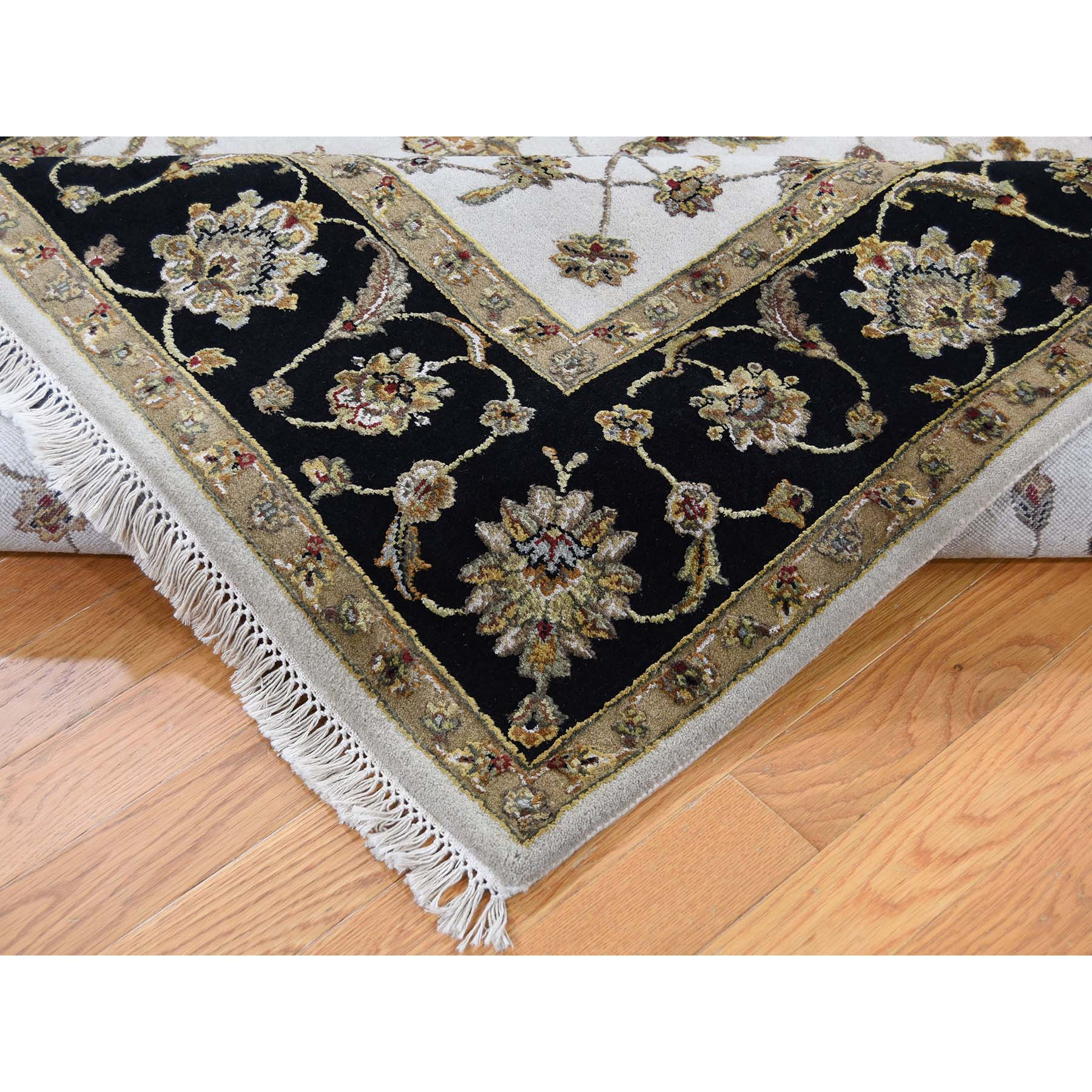 6-1 x9-2  Rajasthan Half Wool and Half Silk Hand-Knotted Oriental Rug