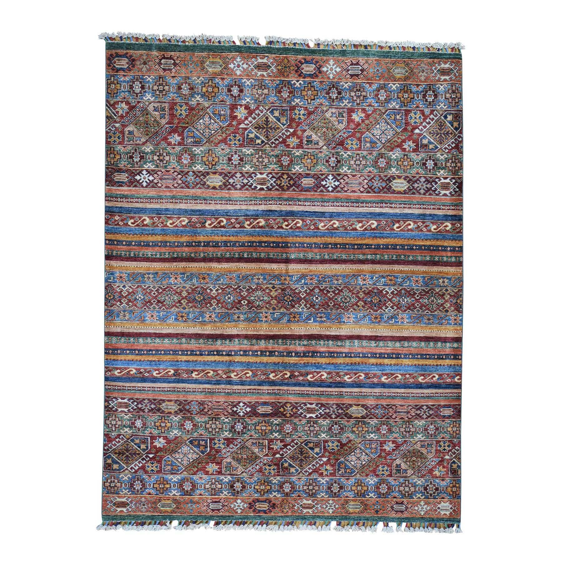 "5'10""X7'8"" Khorjin Design Super Kazak Hand-Knotted Pure Wool Oriental Rug moadc06e"
