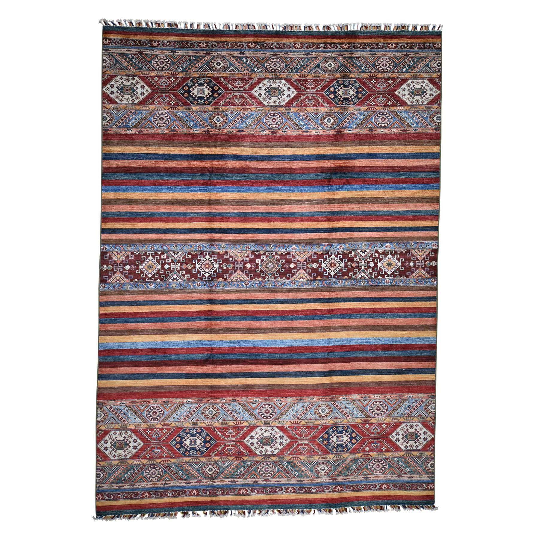 "8'3""x11'8"" Khorjin Design Super Kazak Hand-Knotted Pure Wool Oriental Rug"