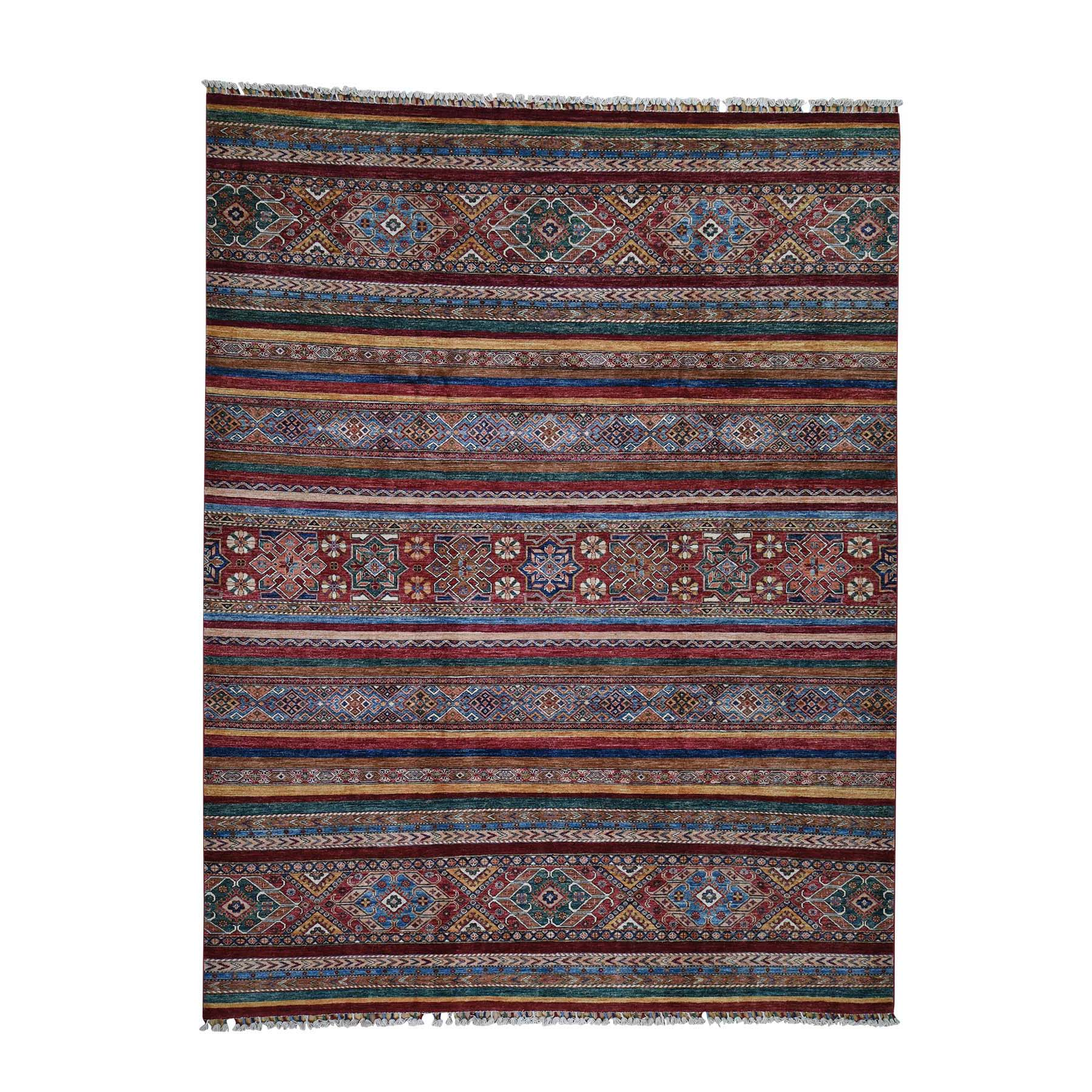 "8'5""X11'1"" Khorjin Design Super Kazak Hand-Knotted Pure Wool Oriental Rug moadc08a"