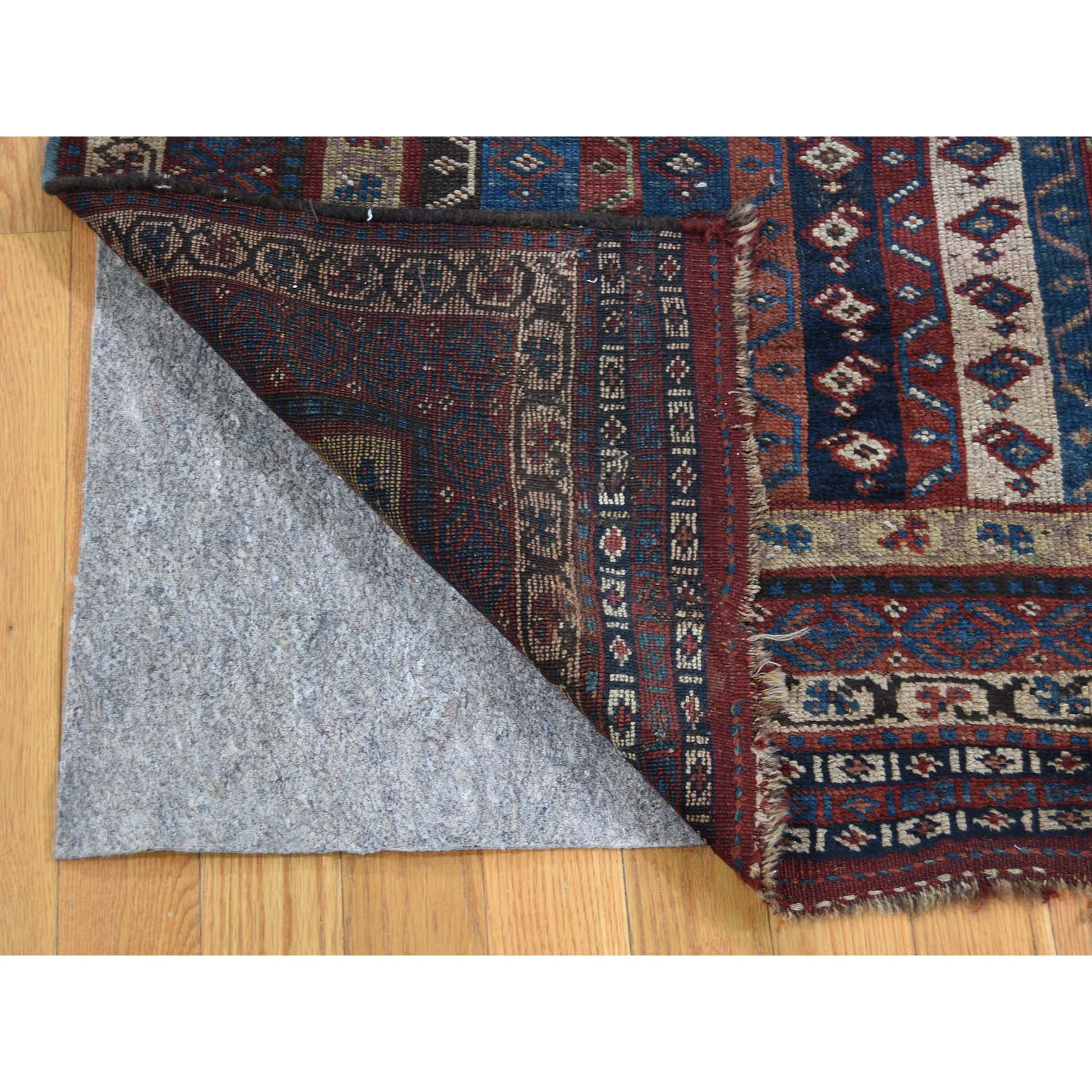 4-10 x11-8  Antique Persian Tribal Lori Buft With Shawl Design Wide Runner Hand-Knotted Oriental Rug