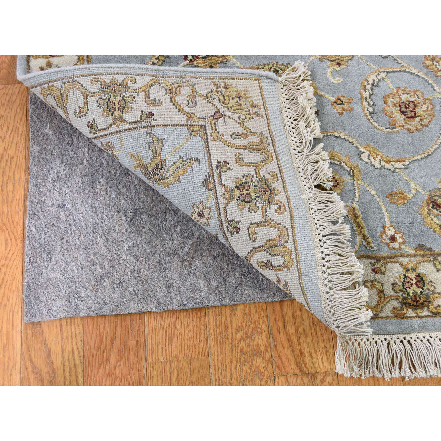 2-7 x12- Rajasthan Half Wool Half and Silk Hand-Knotted Runner Oriental Rug