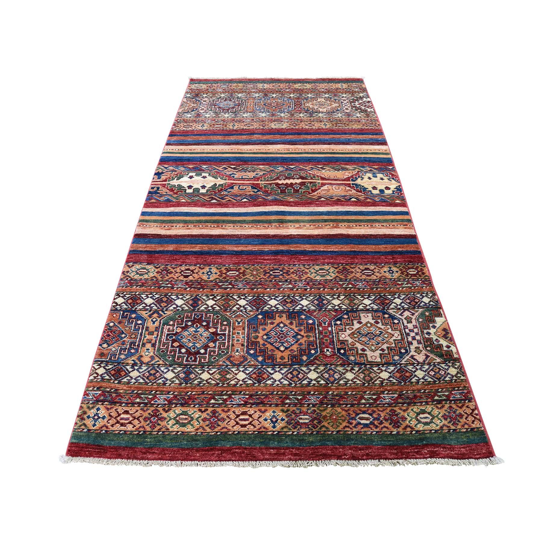 "3'2""X7'5"" Khorjin Design Super Kazak Runner Hand-Knotted Pure Wool Oriental Rug moadca7c"
