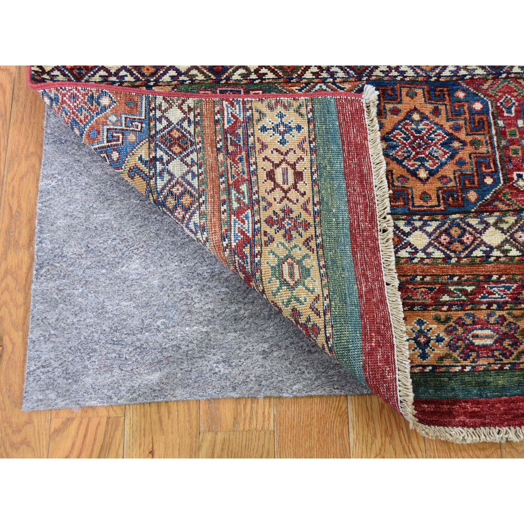 3-2 x7-5  Khorjin Design Super Kazak Runner Hand-Knotted Pure Wool Oriental Rug