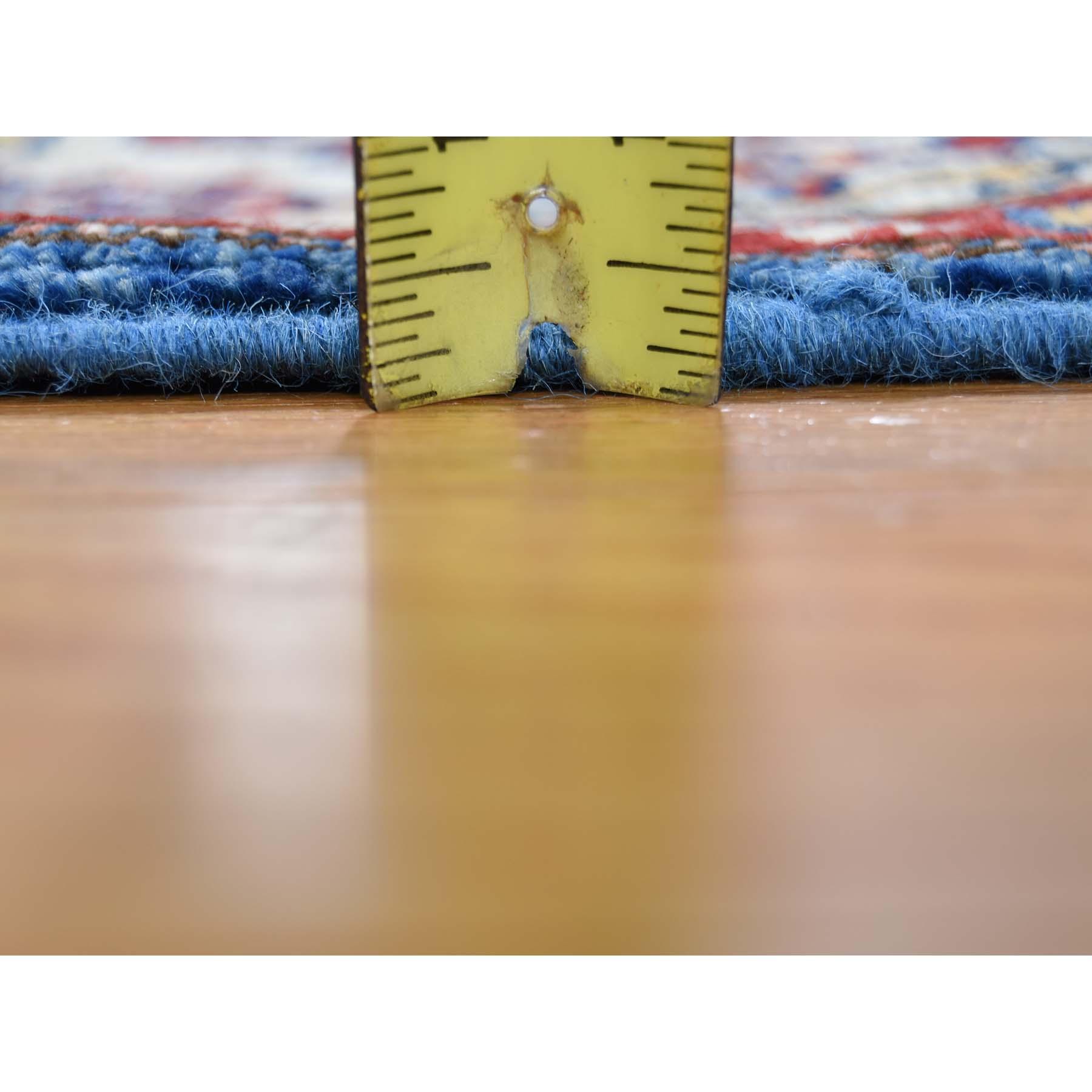 2-1 x3-1  Pure Wool Geometric Design Super Kazak Hand-Knotted Oriental Rug