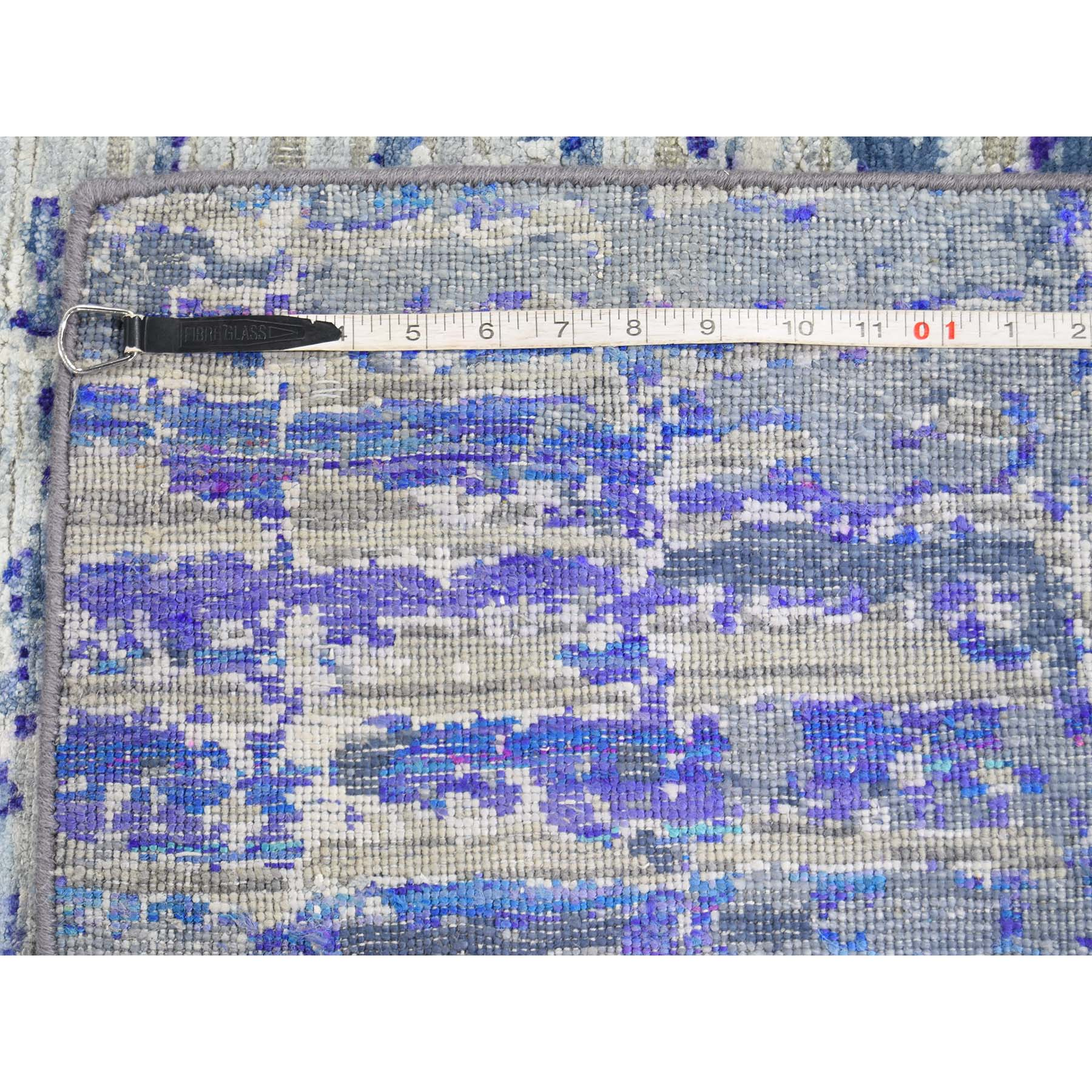 9-x12-2  Sari Silk Diminishing Bricks Hand-Knotted Oriental Rug