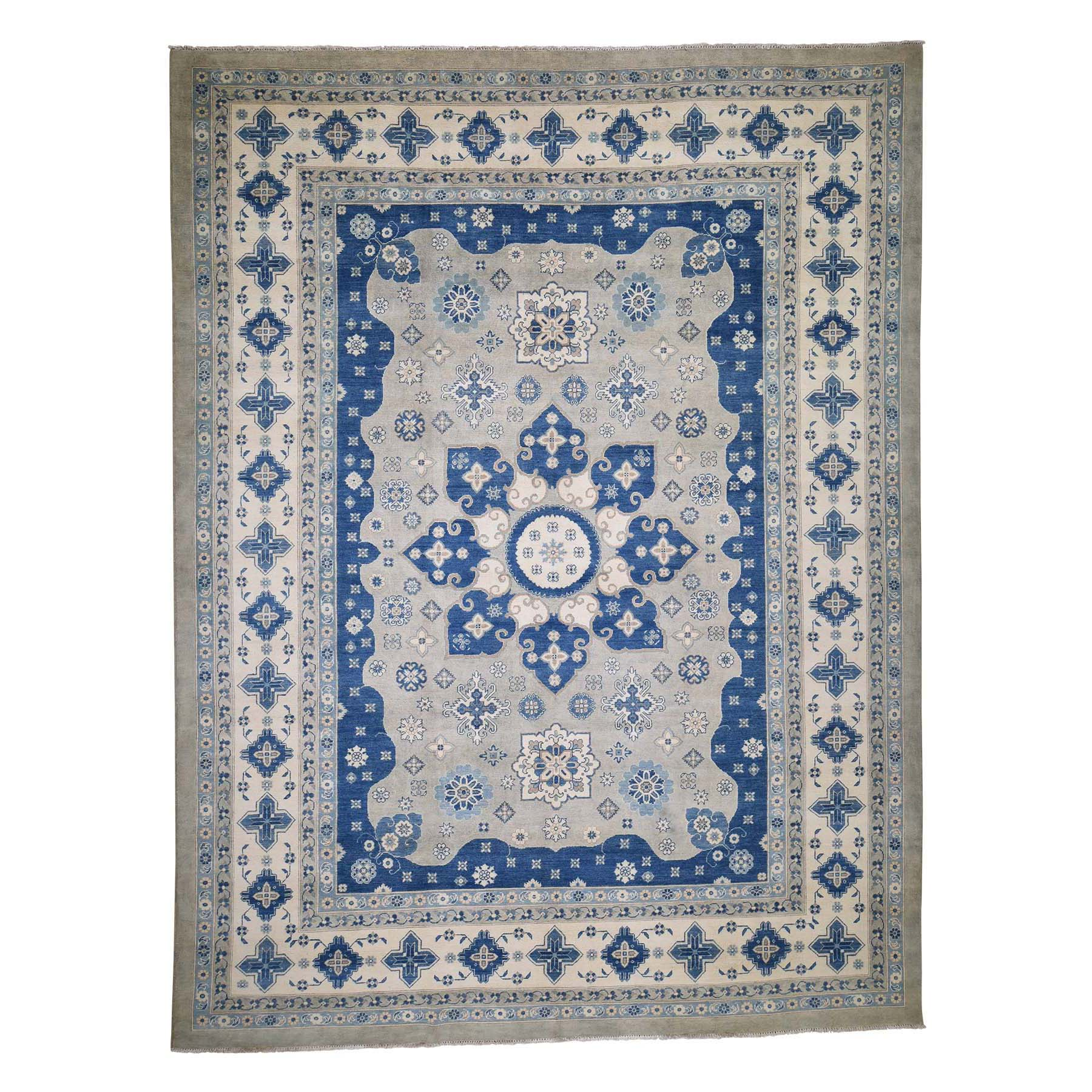 """10'3""""X13'6"""" Vintage Look Kazak Pure Wool Hand-Knotted Oriental Rug moadccc6"""