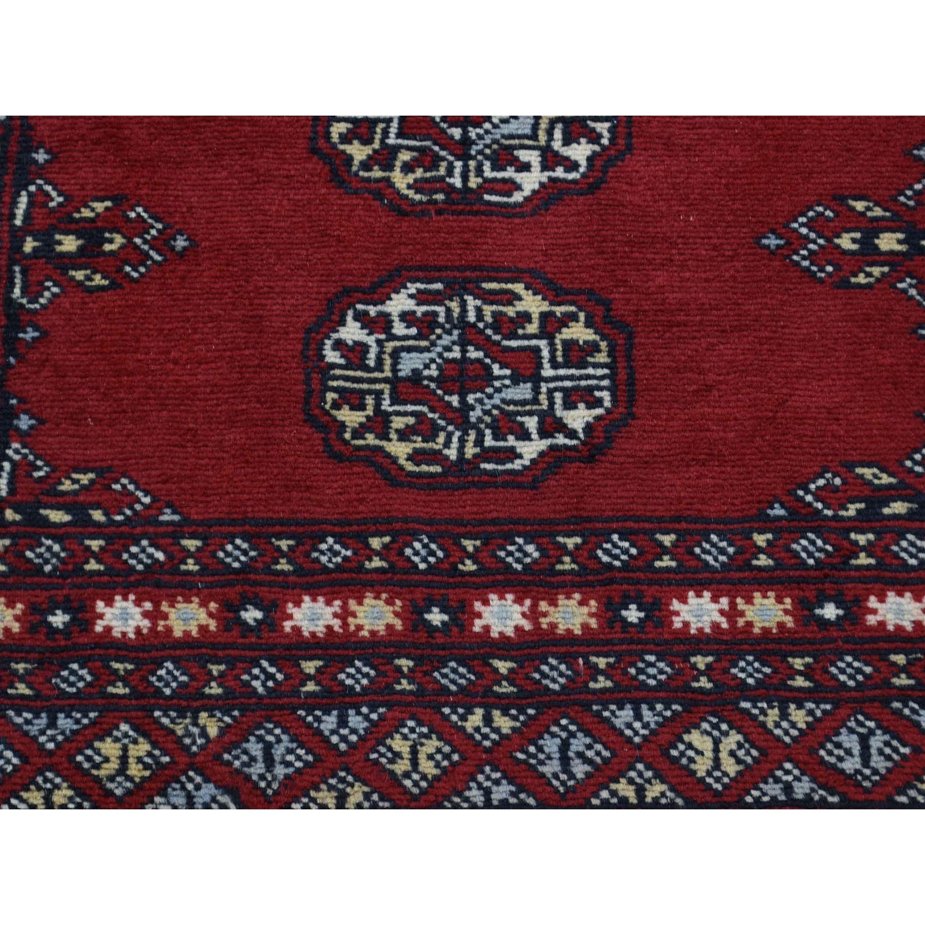 2-1 x3- Hand-Knotted Mori Bokara Elephant Feet Design Oriental Rug