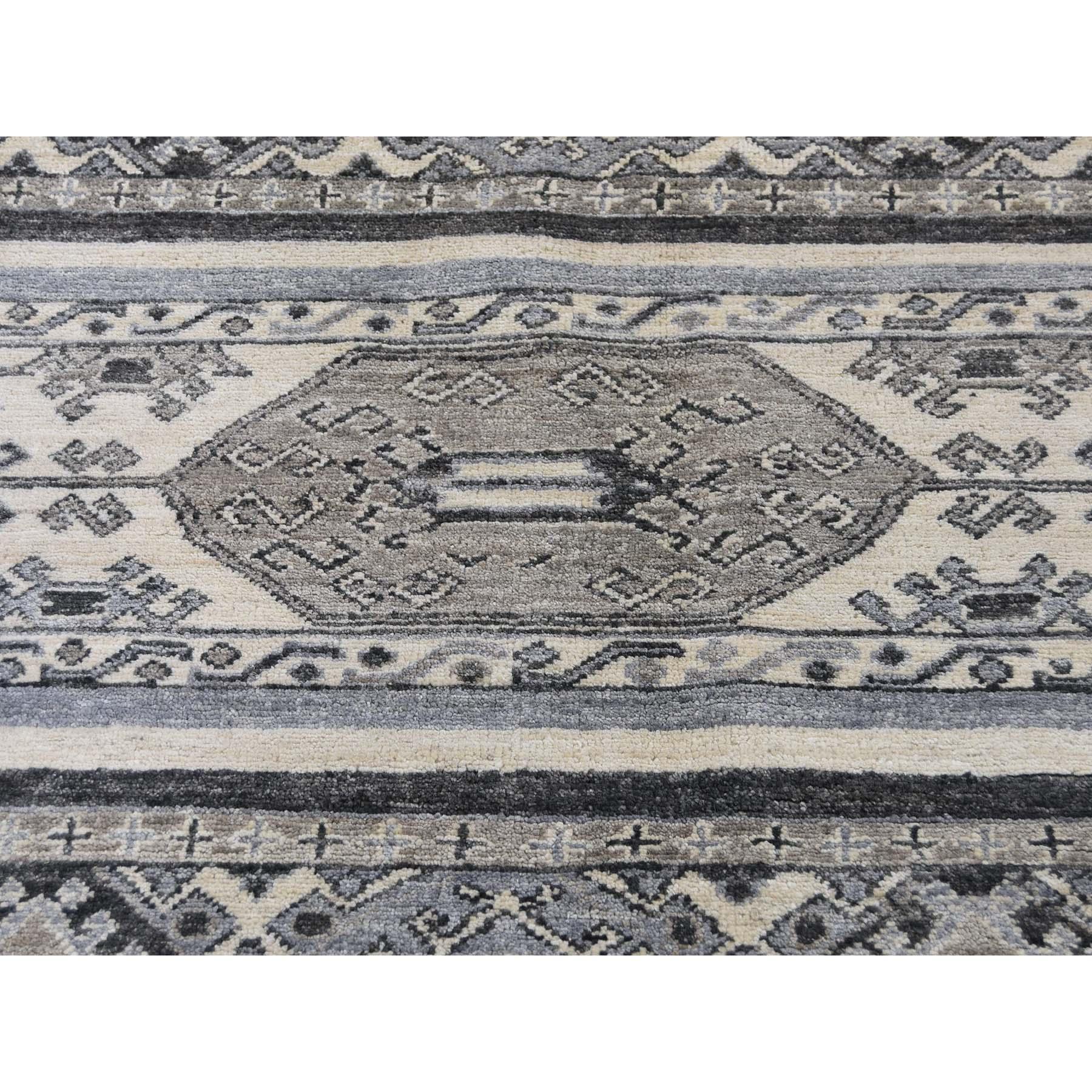 8-6 x10- Super Kazak Khorjin Design Natural Colors Hand-Knotted Oriental Rug