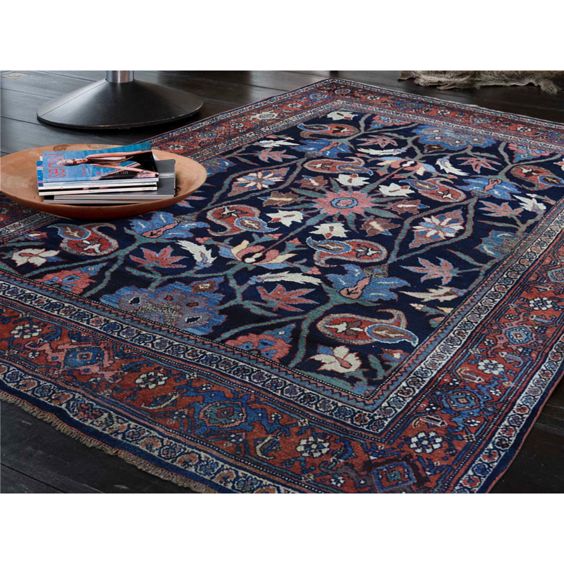 4-6 x6-6  Antique Persian Bijar Pure Wool Exc Condition Full Pile Hand-Knotted Oriental Rug