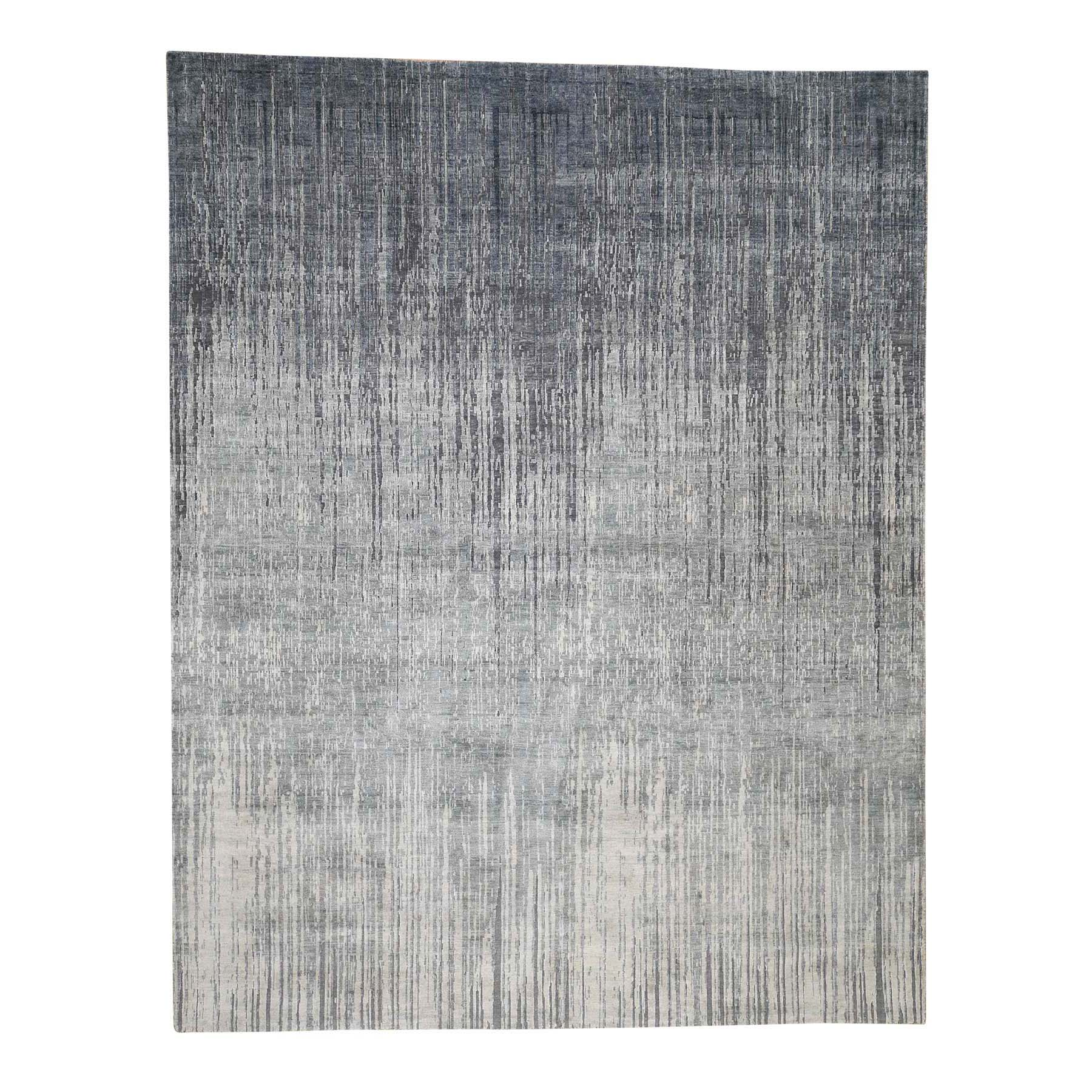"8'X10'4"" Ombre Design Pure Silk Hand-Knotted Oriental Rug moadcdaa"