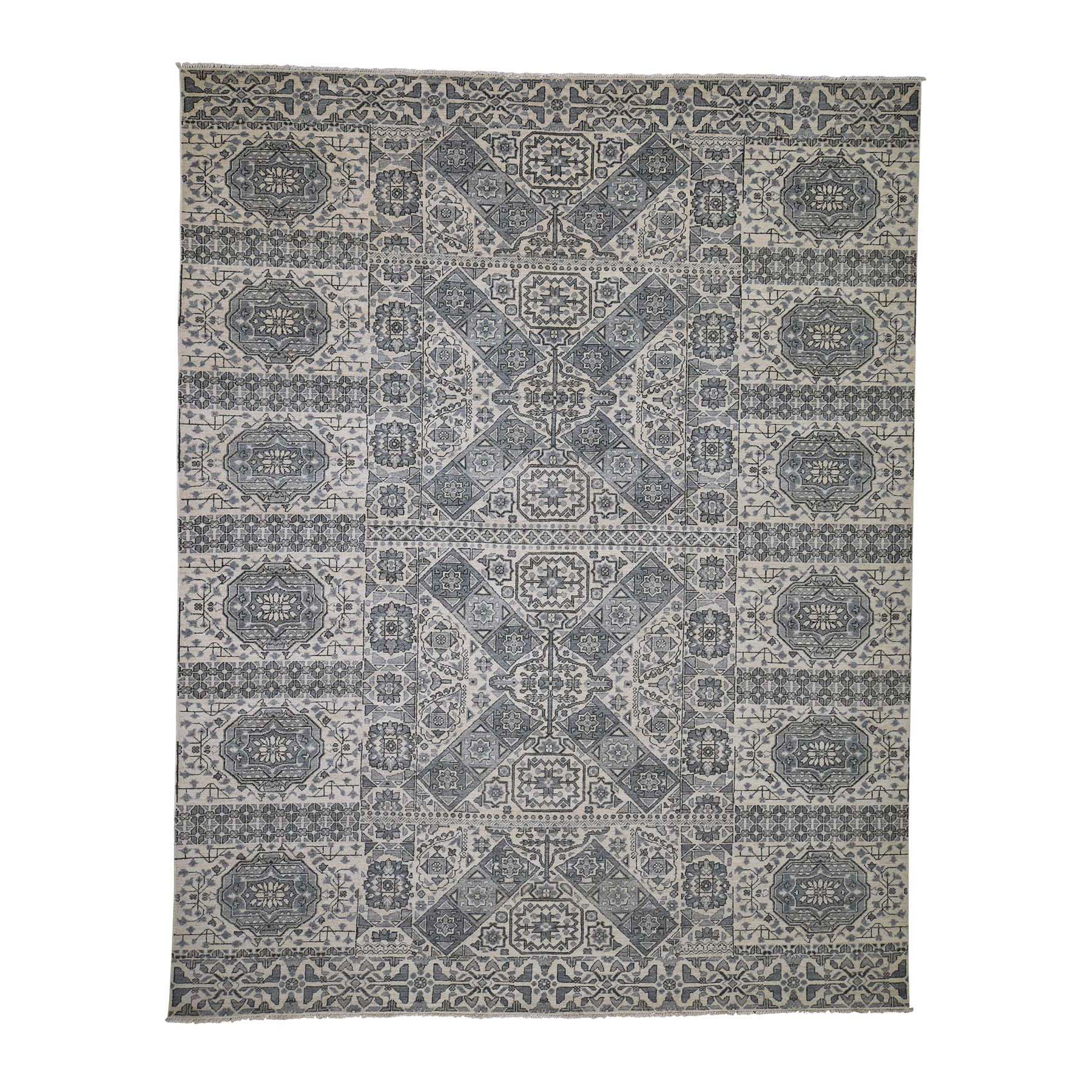 """8'2""""x10'5"""" Mamluk Design Hand-Knotted Undyed Natural Wool Oriental Rug"""