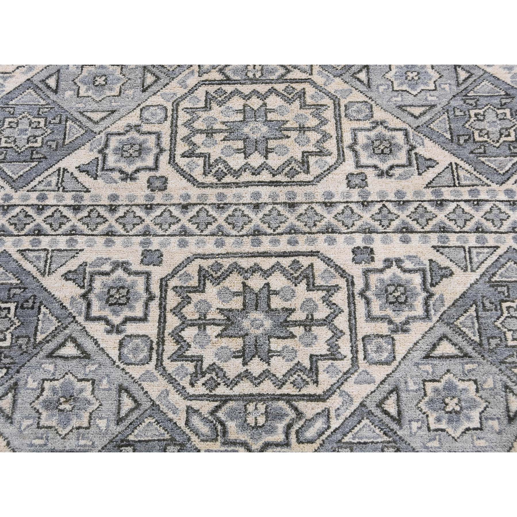 8-2 x10-5  Mamluk Design Hand-Knotted Undyed Natural Wool Oriental Rug