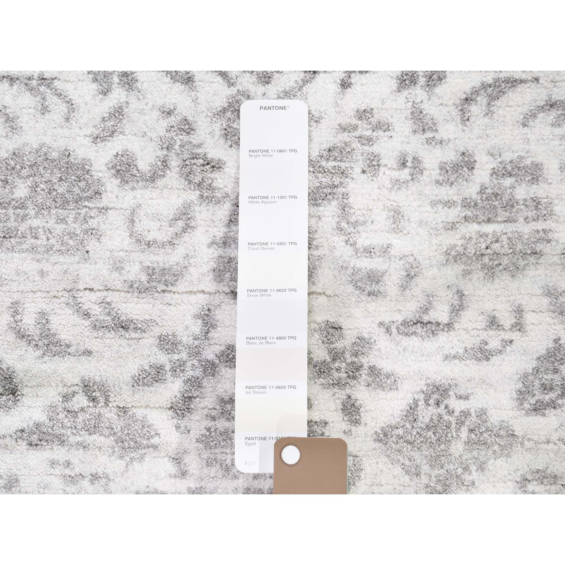 4-1 x6-2  Broken Tabriz Mahi Design Wool And Silk Blend Hand-Knotted Oriental Rug