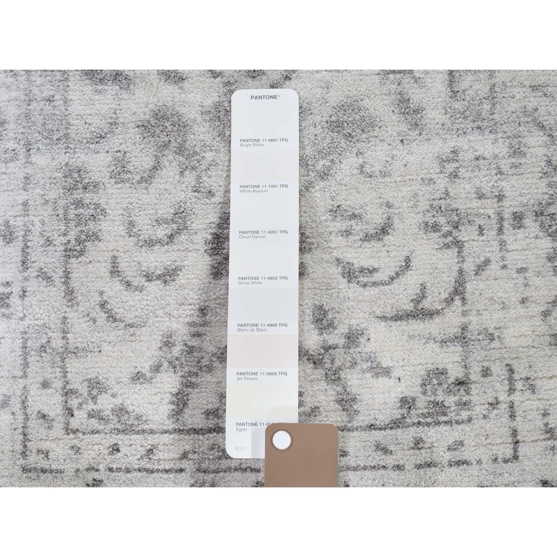 2-x3- Broken Tabriz Mahi Design Wool And Silk Blend Hand-Knotted Oriental Rug